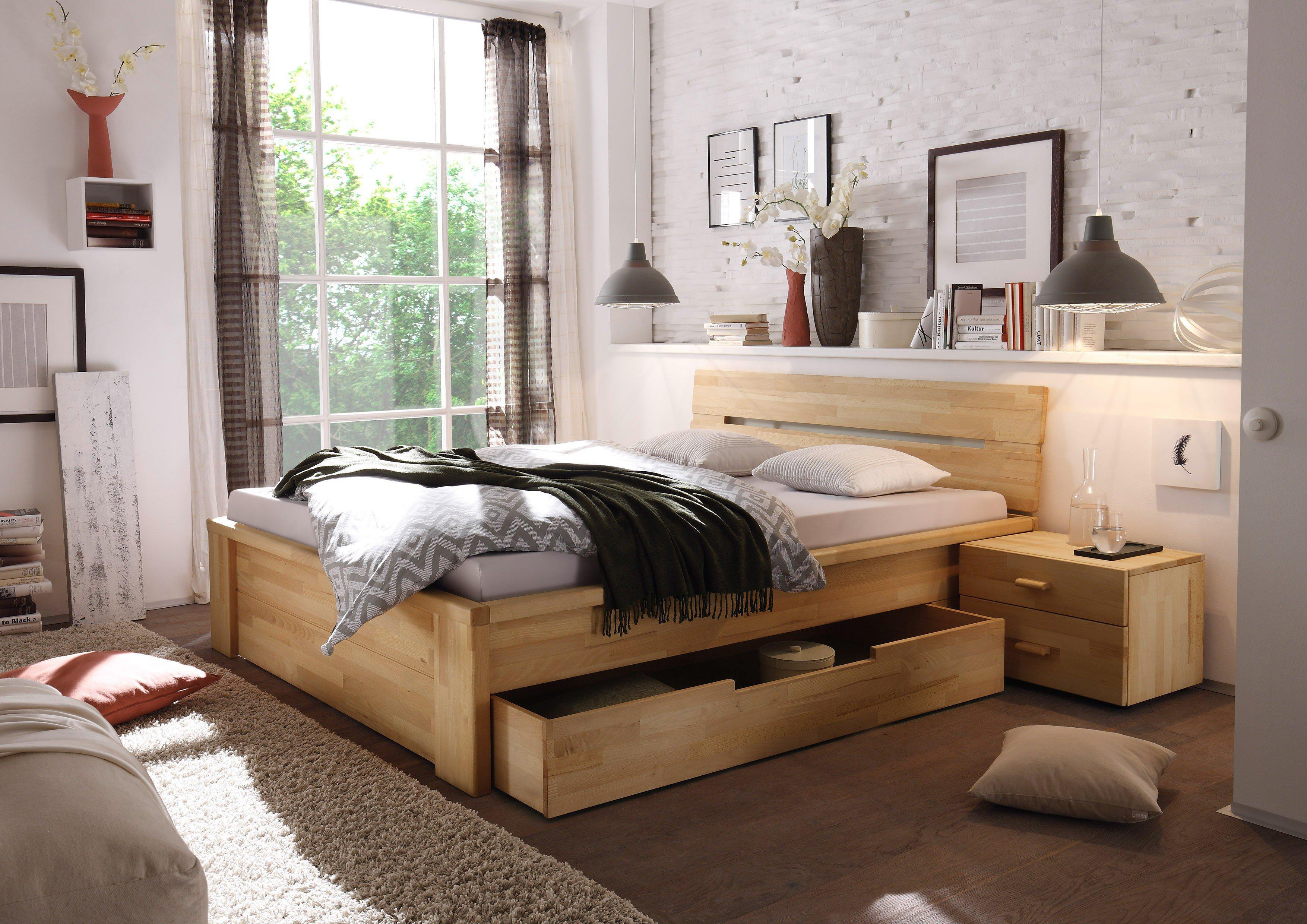 woodlive cassetta bett kernbuche natur m bel letz ihr online shop. Black Bedroom Furniture Sets. Home Design Ideas