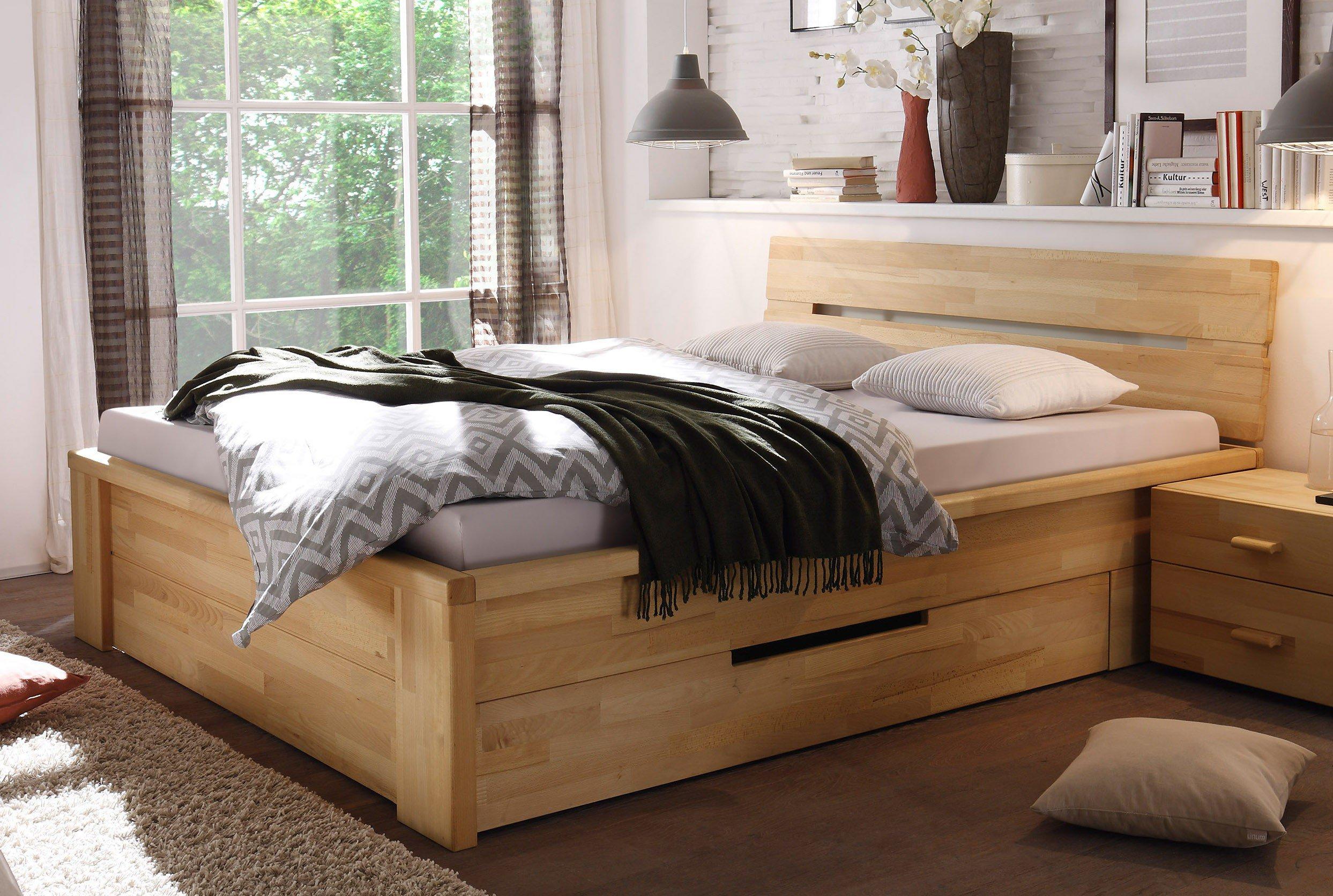 woodlive cassetta bett kernbuche natur m bel letz ihr. Black Bedroom Furniture Sets. Home Design Ideas