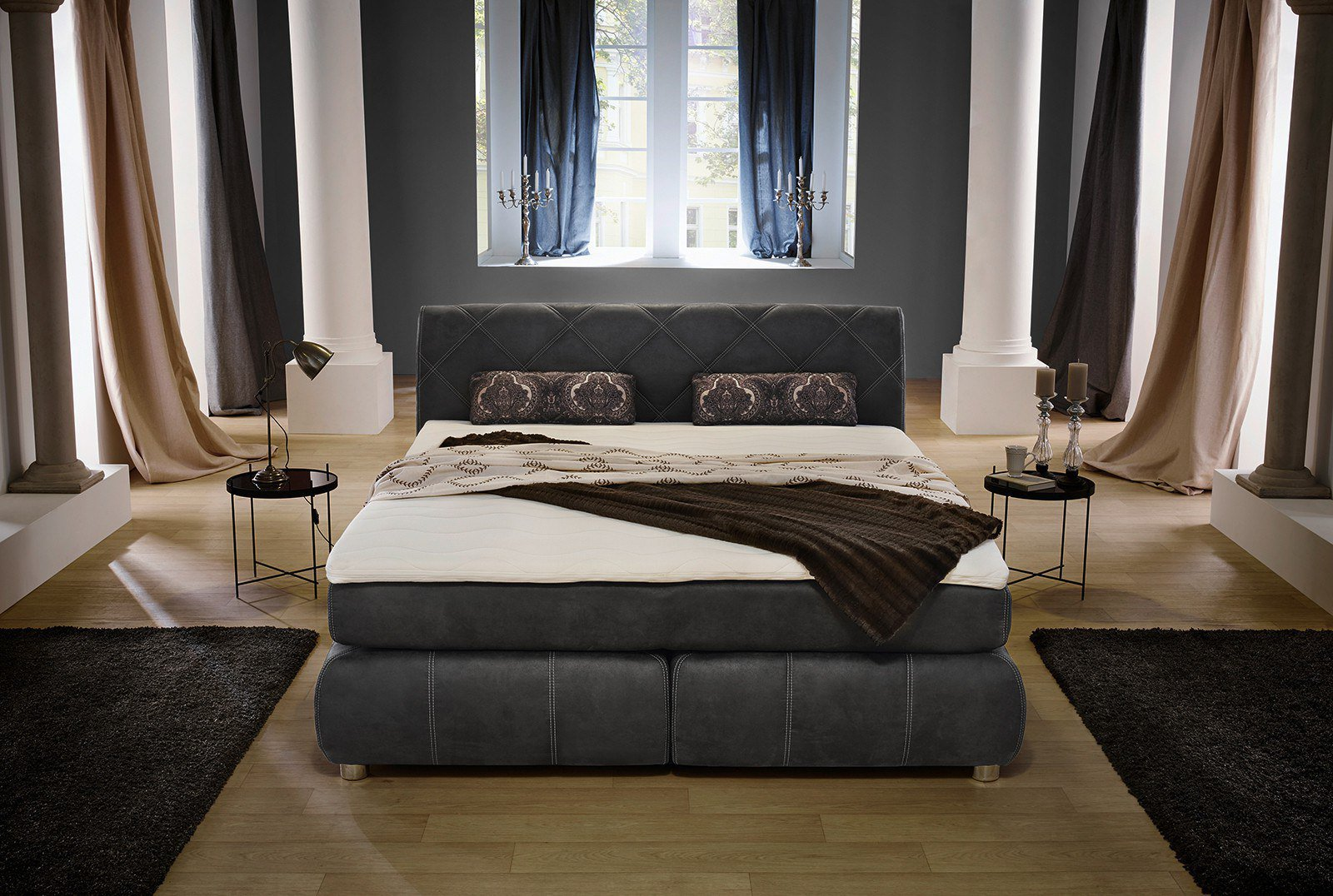 jockenh fer rebecca rosi boxspringbett 180 grau m bel letz ihr online shop. Black Bedroom Furniture Sets. Home Design Ideas