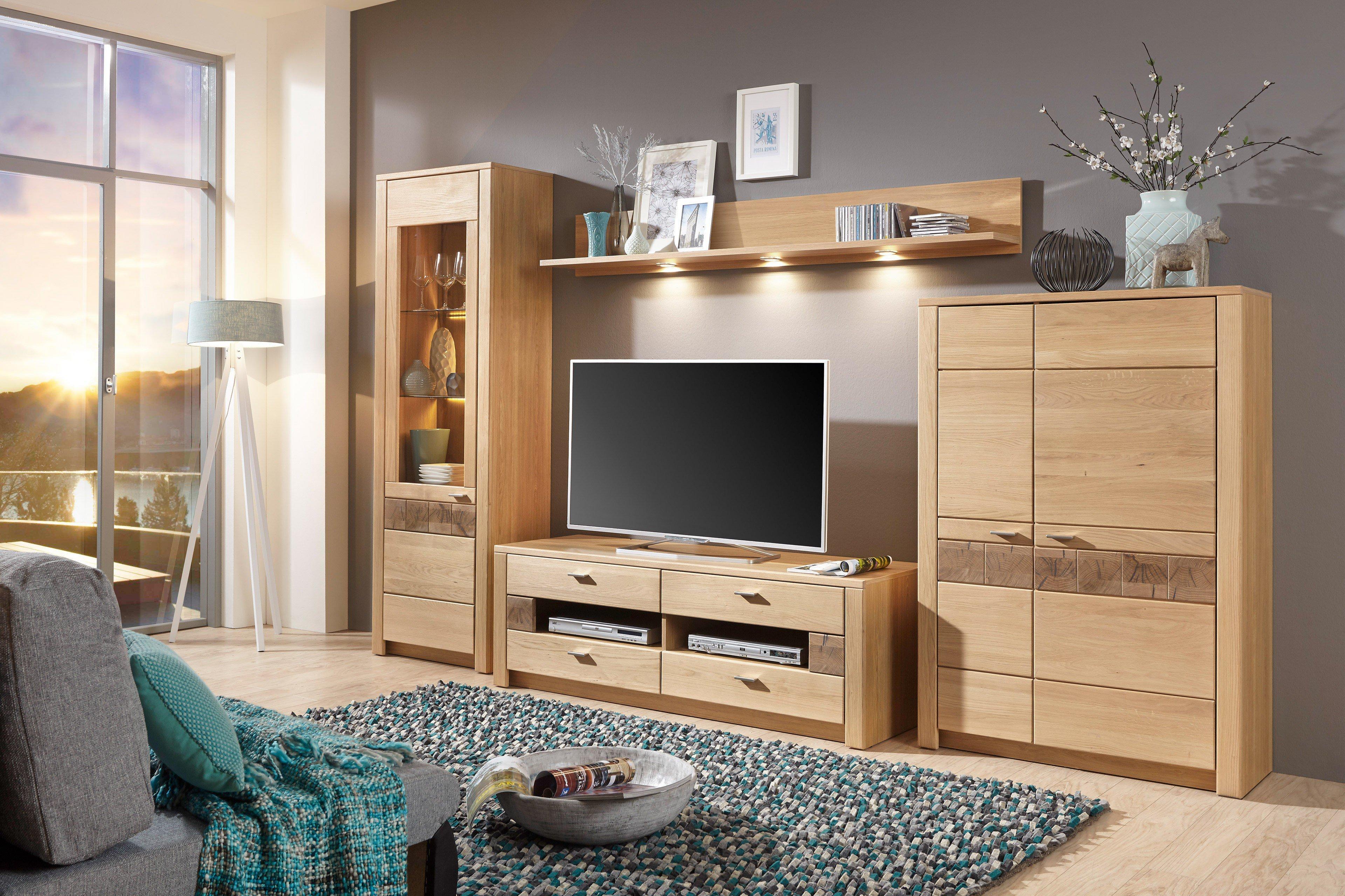 ideal m bel wohnwand porto eiche bianco m bel letz ihr. Black Bedroom Furniture Sets. Home Design Ideas