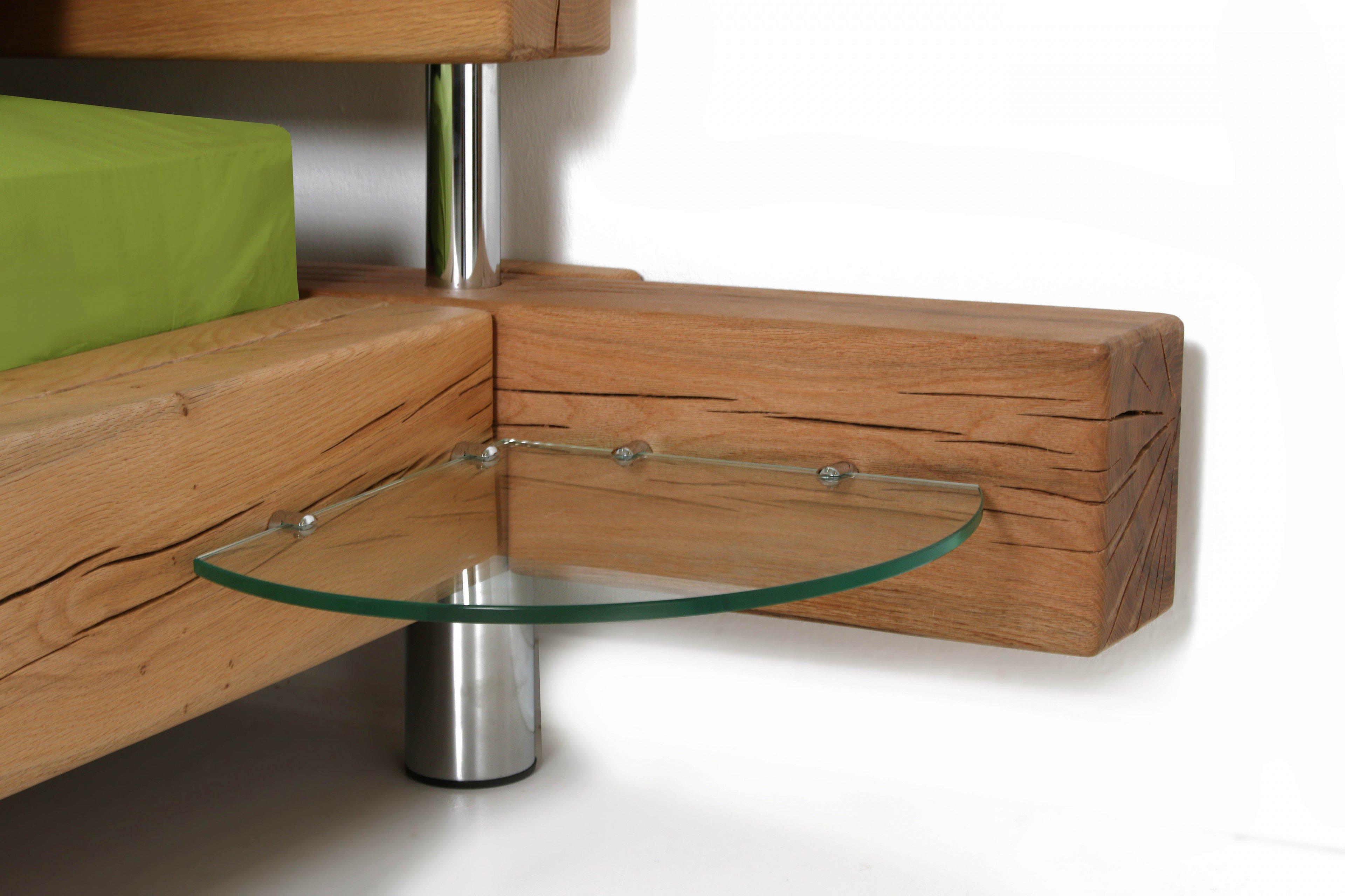 sprenger balken bett sumpfeiche geschliffen m bel letz. Black Bedroom Furniture Sets. Home Design Ideas