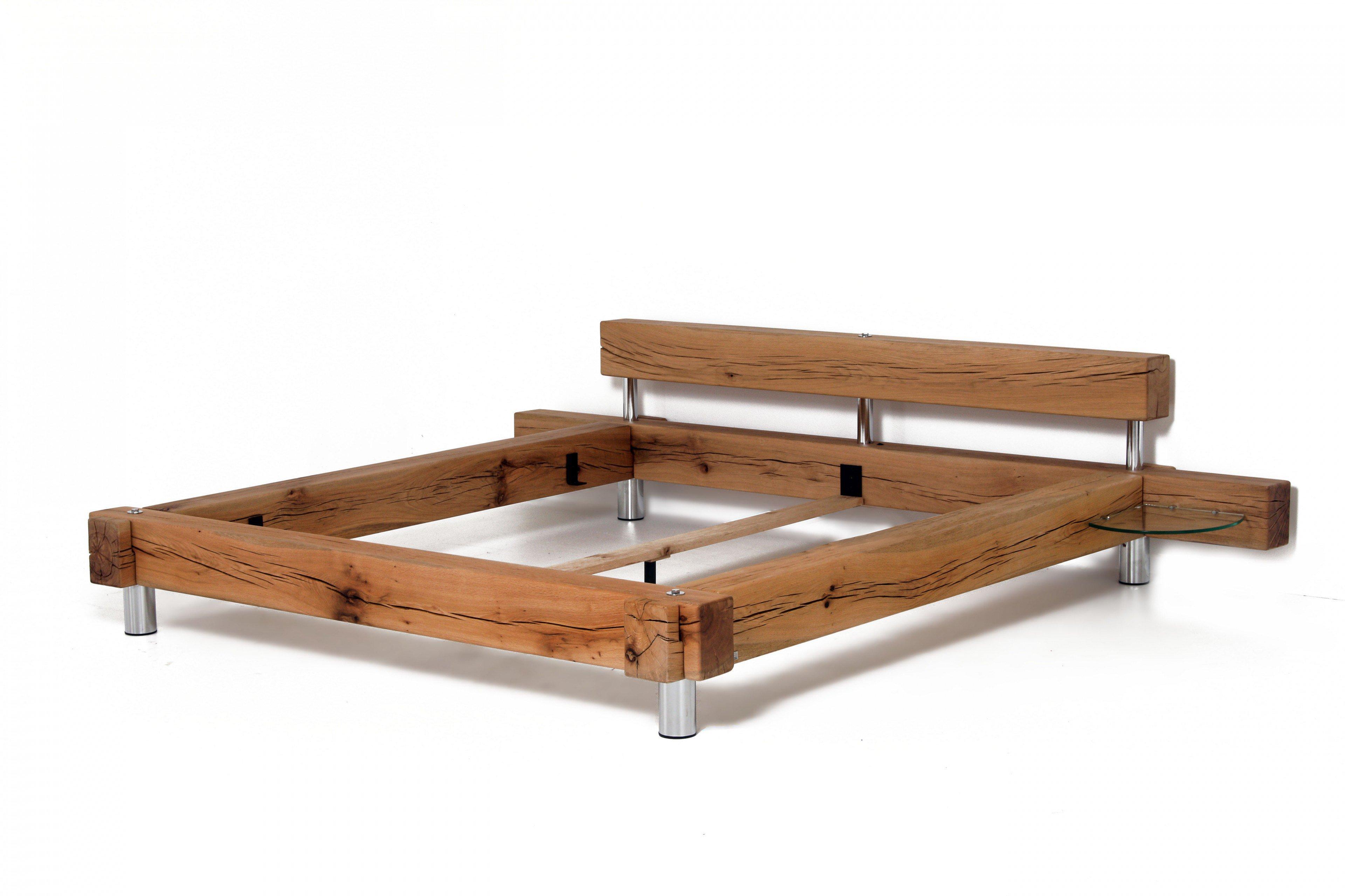 sprenger balken bett sumpfeiche geschliffen m bel letz ihr online shop. Black Bedroom Furniture Sets. Home Design Ideas