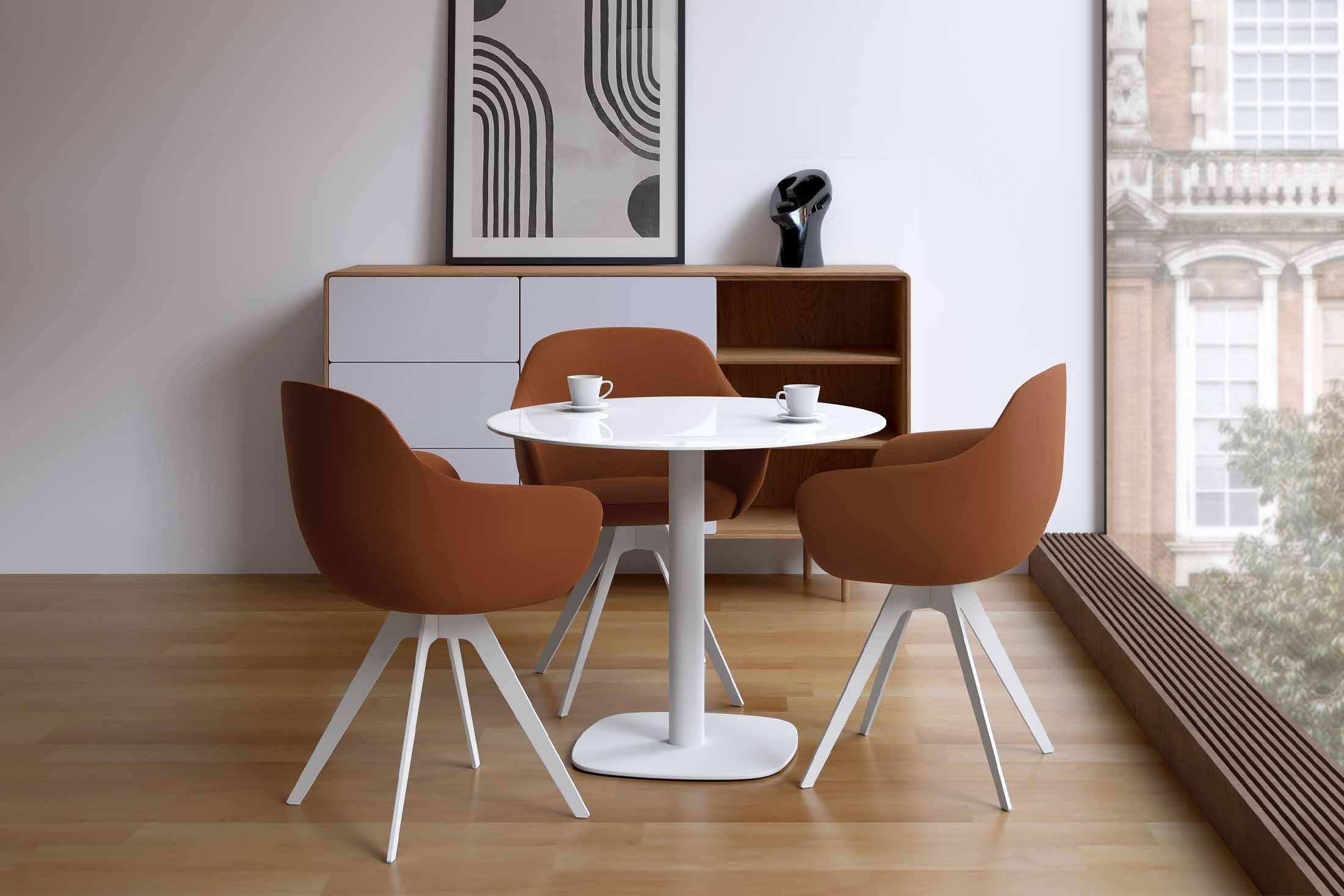 Esstisch Circus Glas anthrazit/ Stahl verchromt von CANCIO | Möbel ...