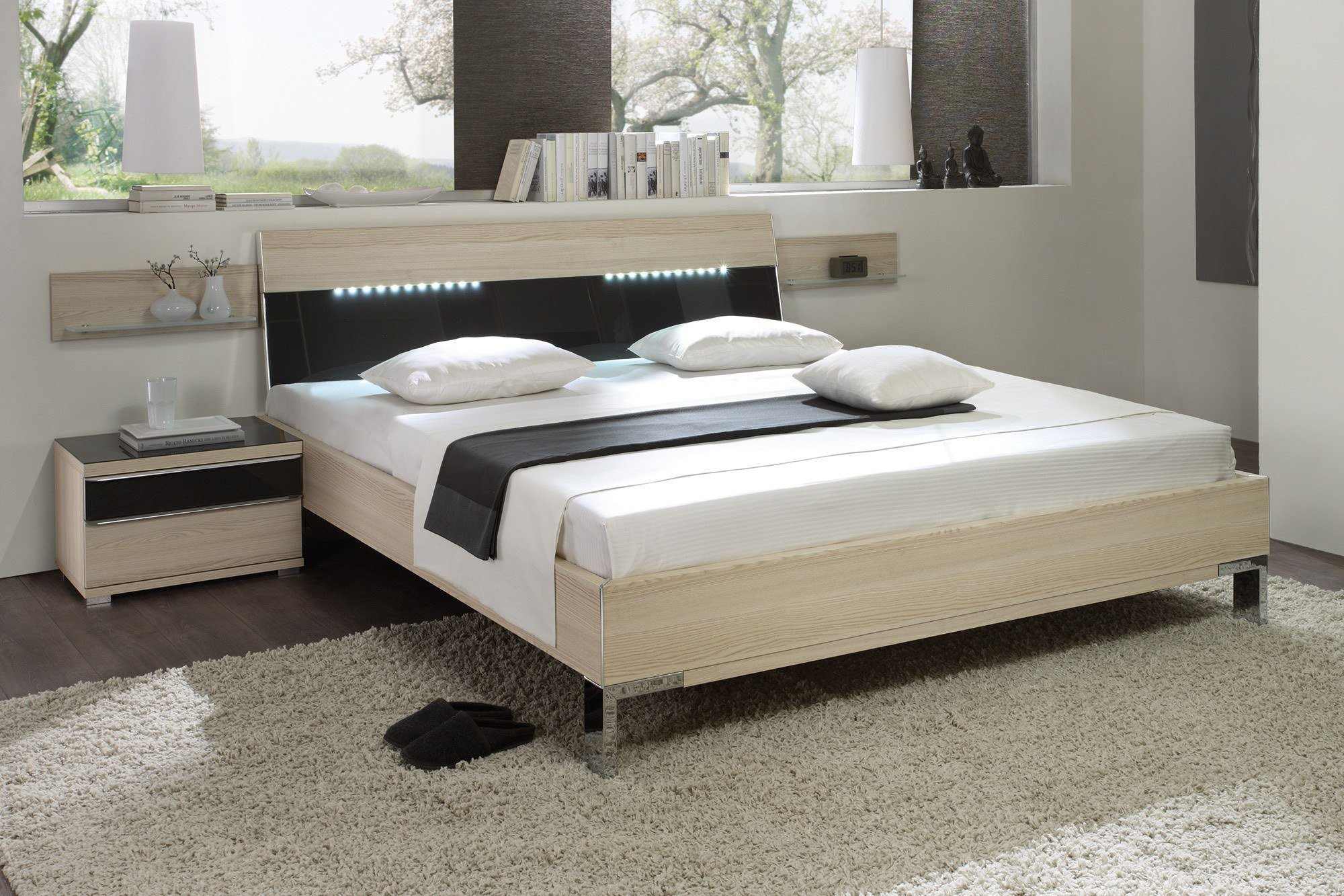 staud sinfonie plus bett sibiu l rche anthrazitglas m bel letz ihr online shop. Black Bedroom Furniture Sets. Home Design Ideas