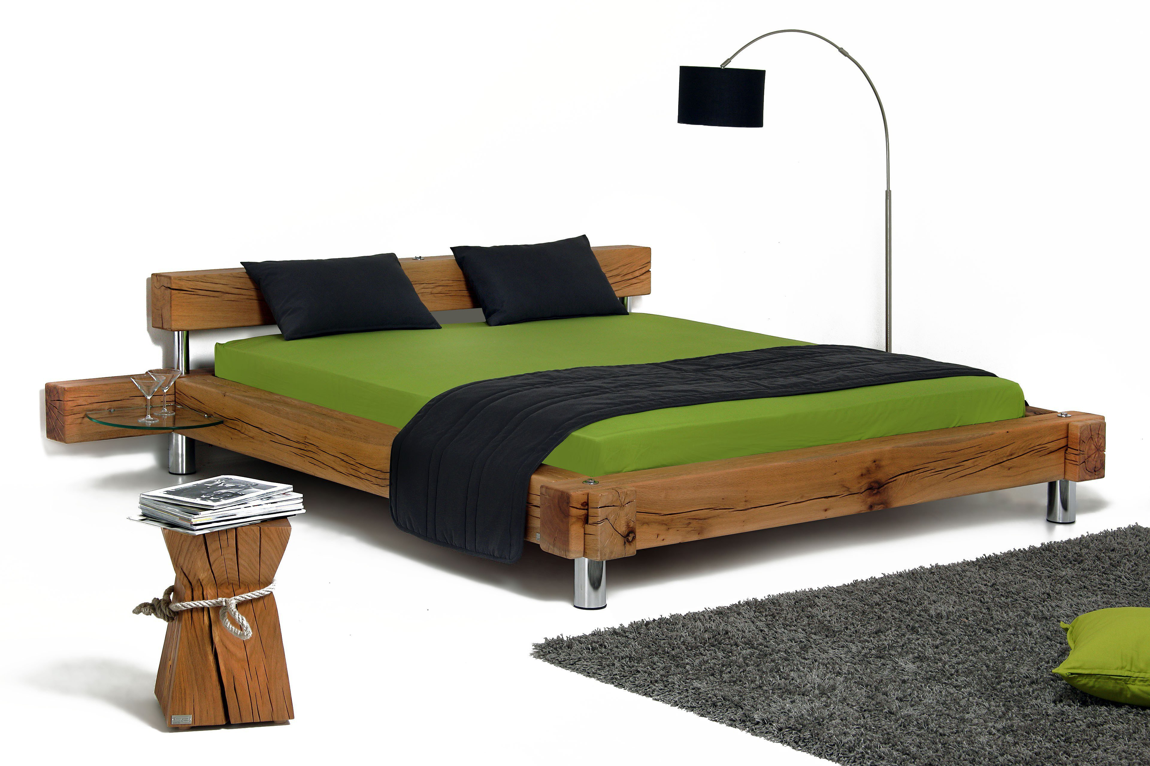 sprenger balken bett sumpfeiche rissig m bel letz ihr online shop. Black Bedroom Furniture Sets. Home Design Ideas