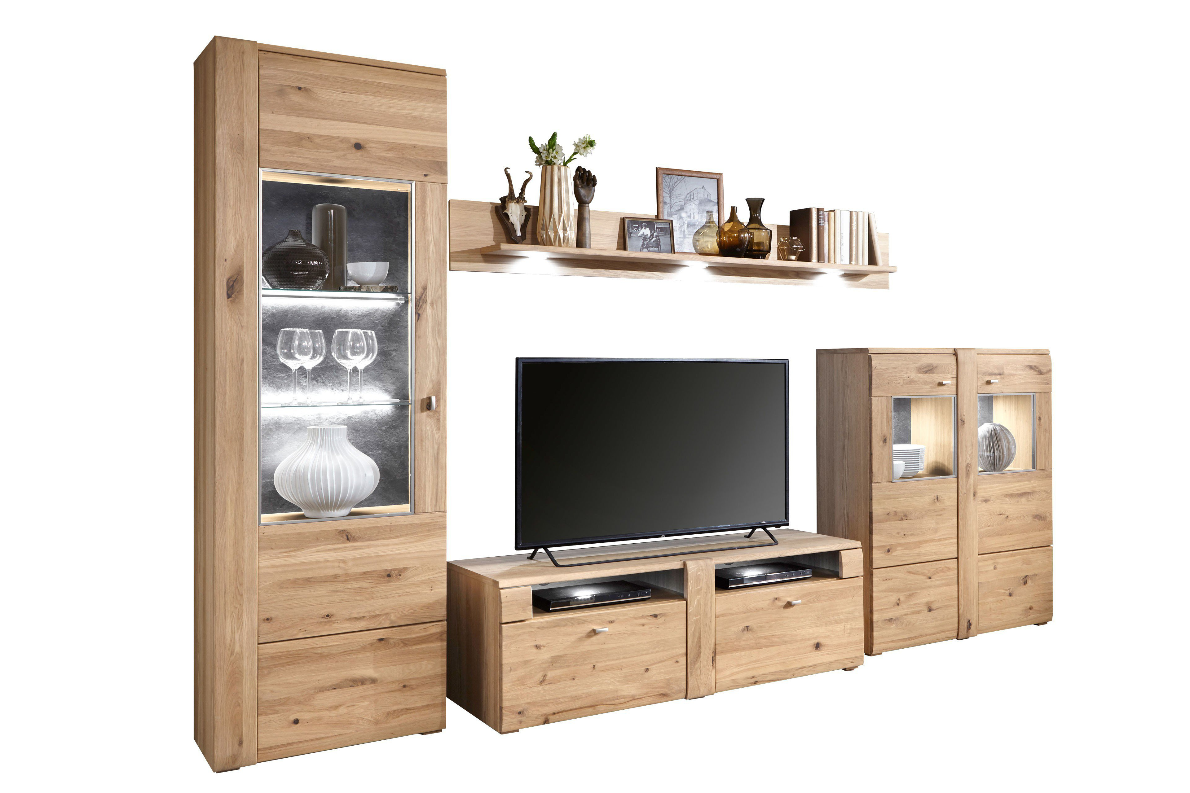 ideal m bel wohnwand arras alteiche m bel letz ihr online shop. Black Bedroom Furniture Sets. Home Design Ideas