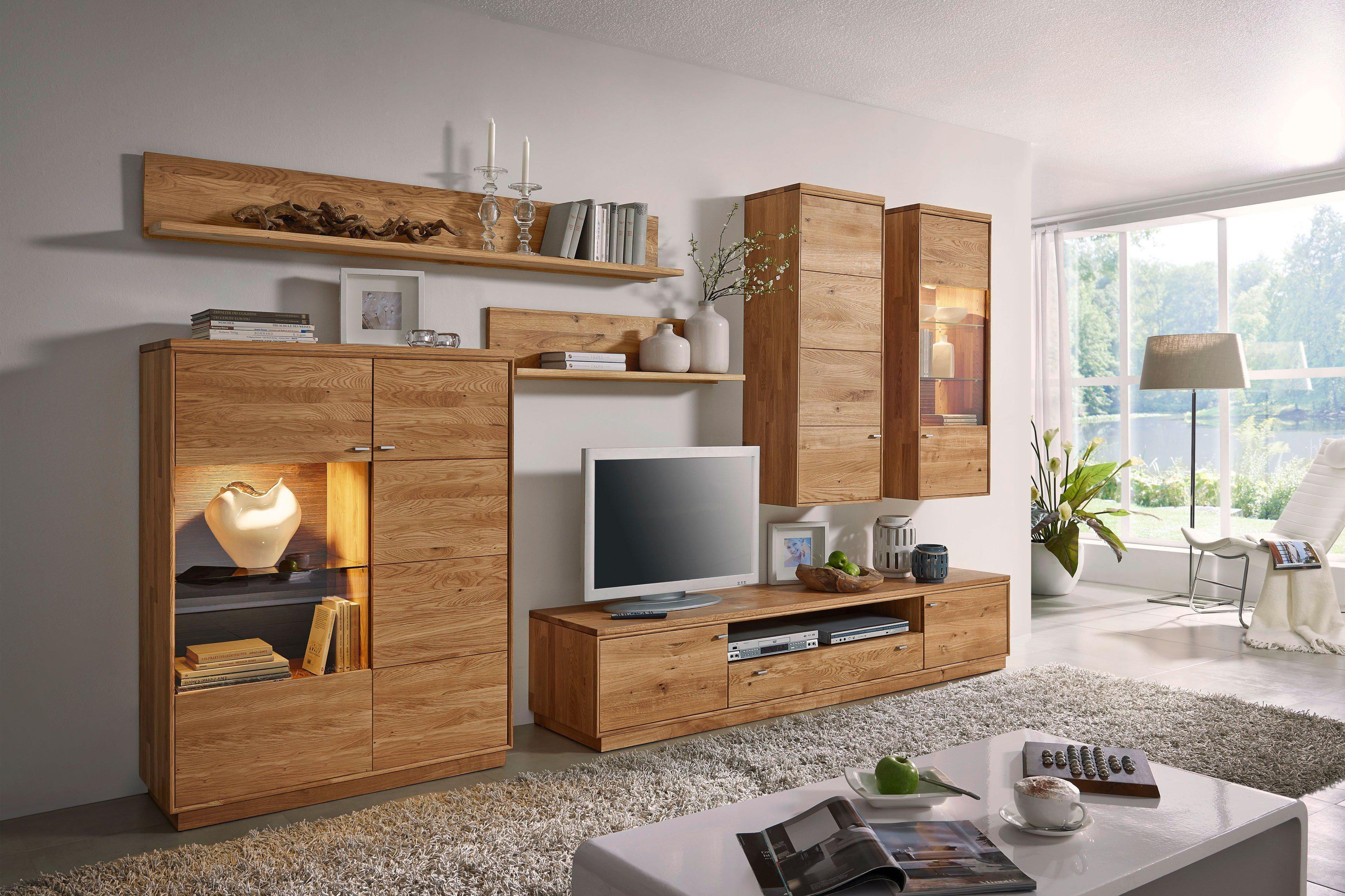 dudinger wohnwand alexandra variante 1 aus wildeiche. Black Bedroom Furniture Sets. Home Design Ideas