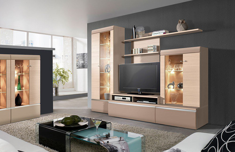wohnwand mobel boss planen. Black Bedroom Furniture Sets. Home Design Ideas