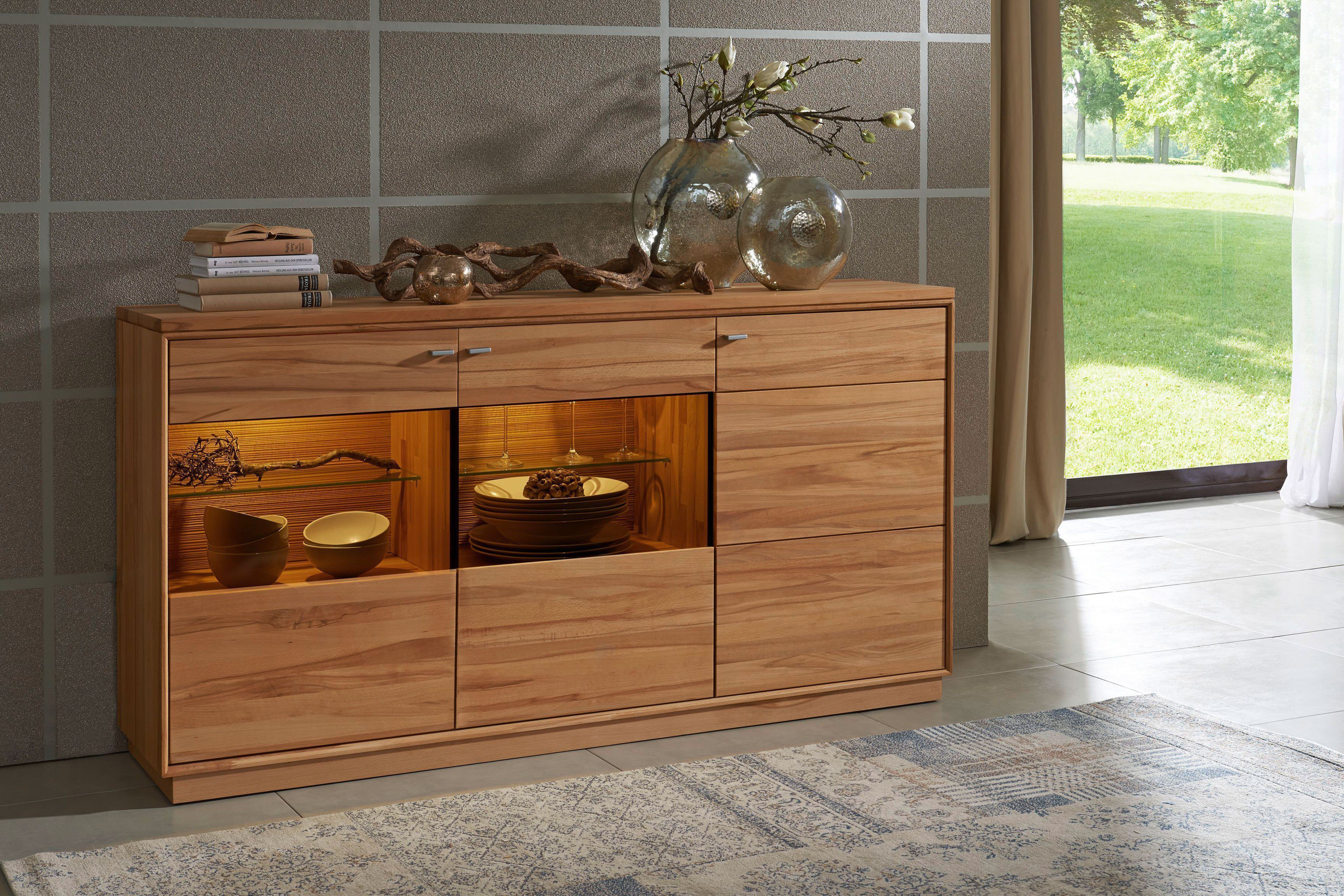 Dudinger Furniture Sideboard Alexandra Ax 2314 Aus Kernbuche Natur