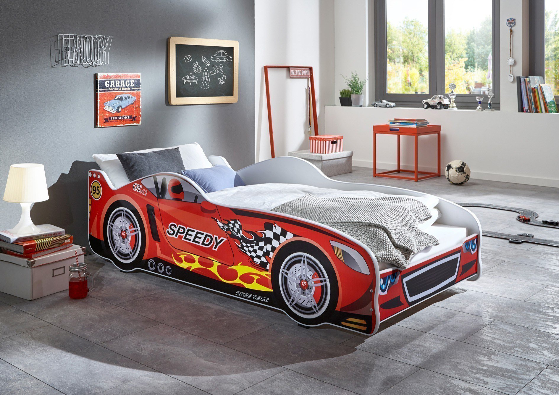 Relita Speedy Autobett 80x160 rot weiß | Möbel Letz - Ihr Online-Shop