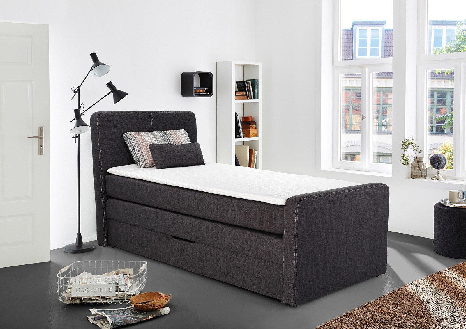 jockenh fer boxspringbett gibraltar 90 x 200 cm in anthrazit m bel letz ihr online shop. Black Bedroom Furniture Sets. Home Design Ideas