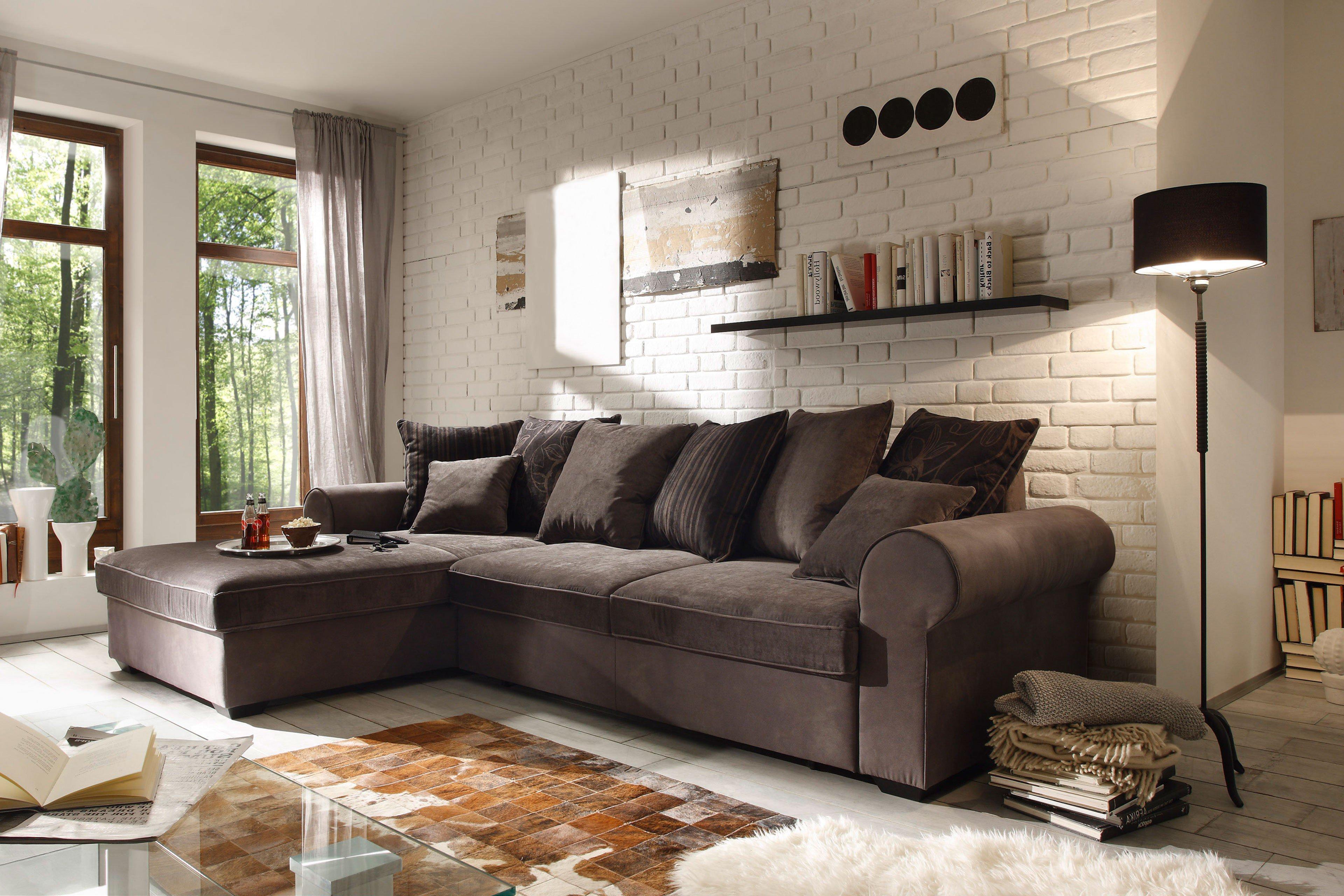 black red white canyon eckgarnitur braun schwarz m bel letz ihr online shop. Black Bedroom Furniture Sets. Home Design Ideas