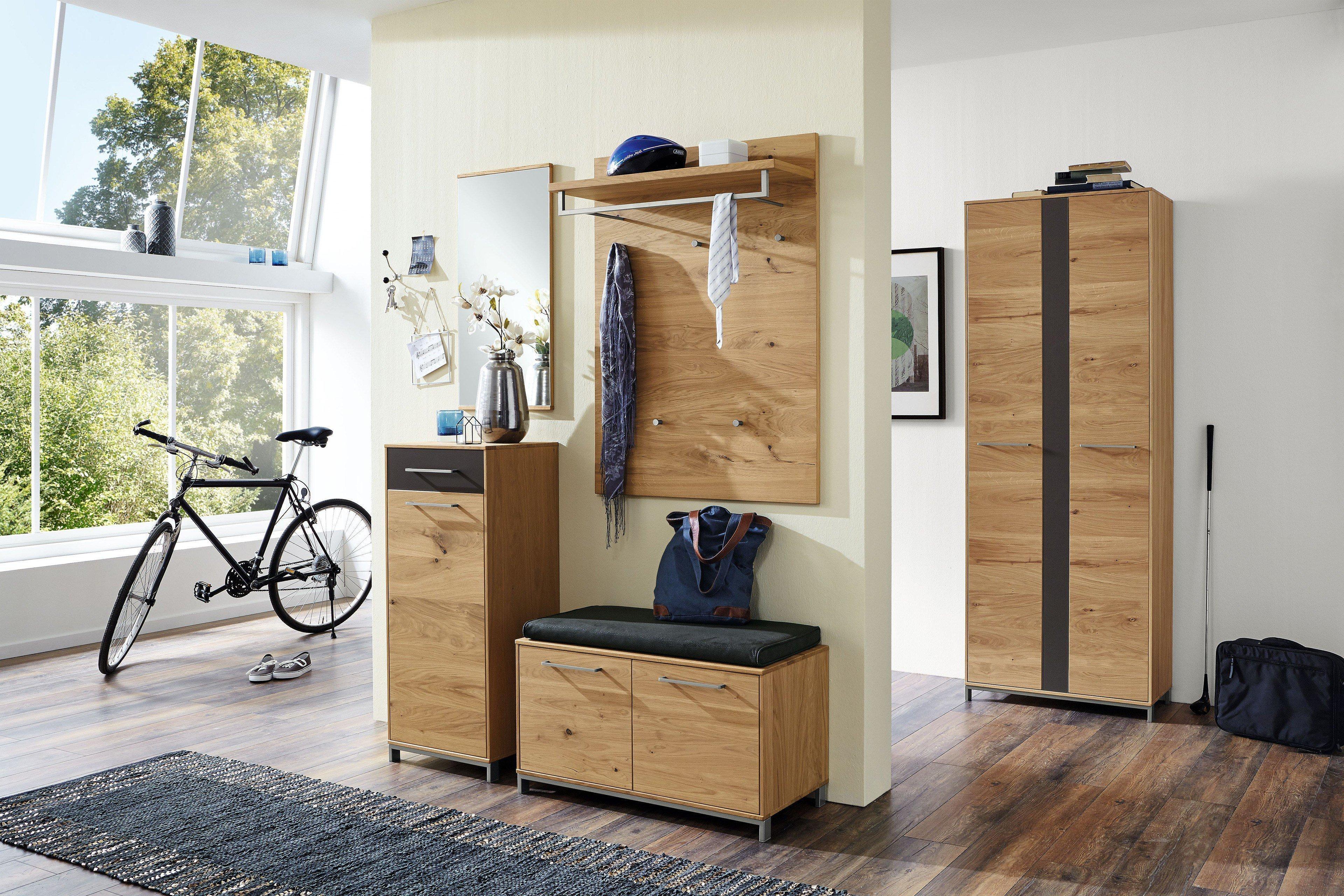 voss garderobe vedo eiche anthrazit vierteilig m bel letz ihr online shop. Black Bedroom Furniture Sets. Home Design Ideas
