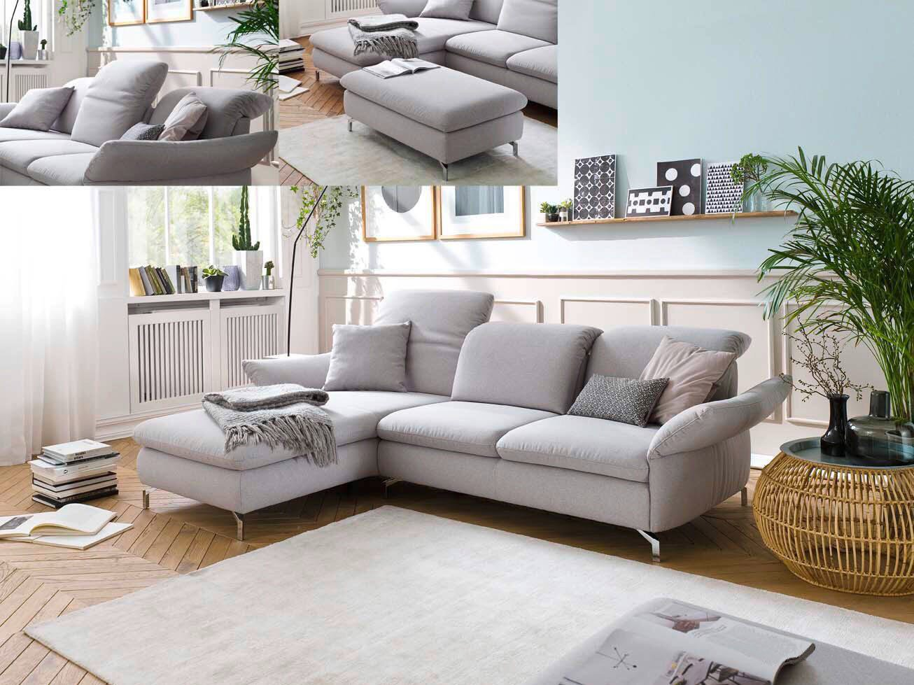 Candy Homely Ecksofa in Anthrazit | Möbel Letz - Ihr Online-Shop