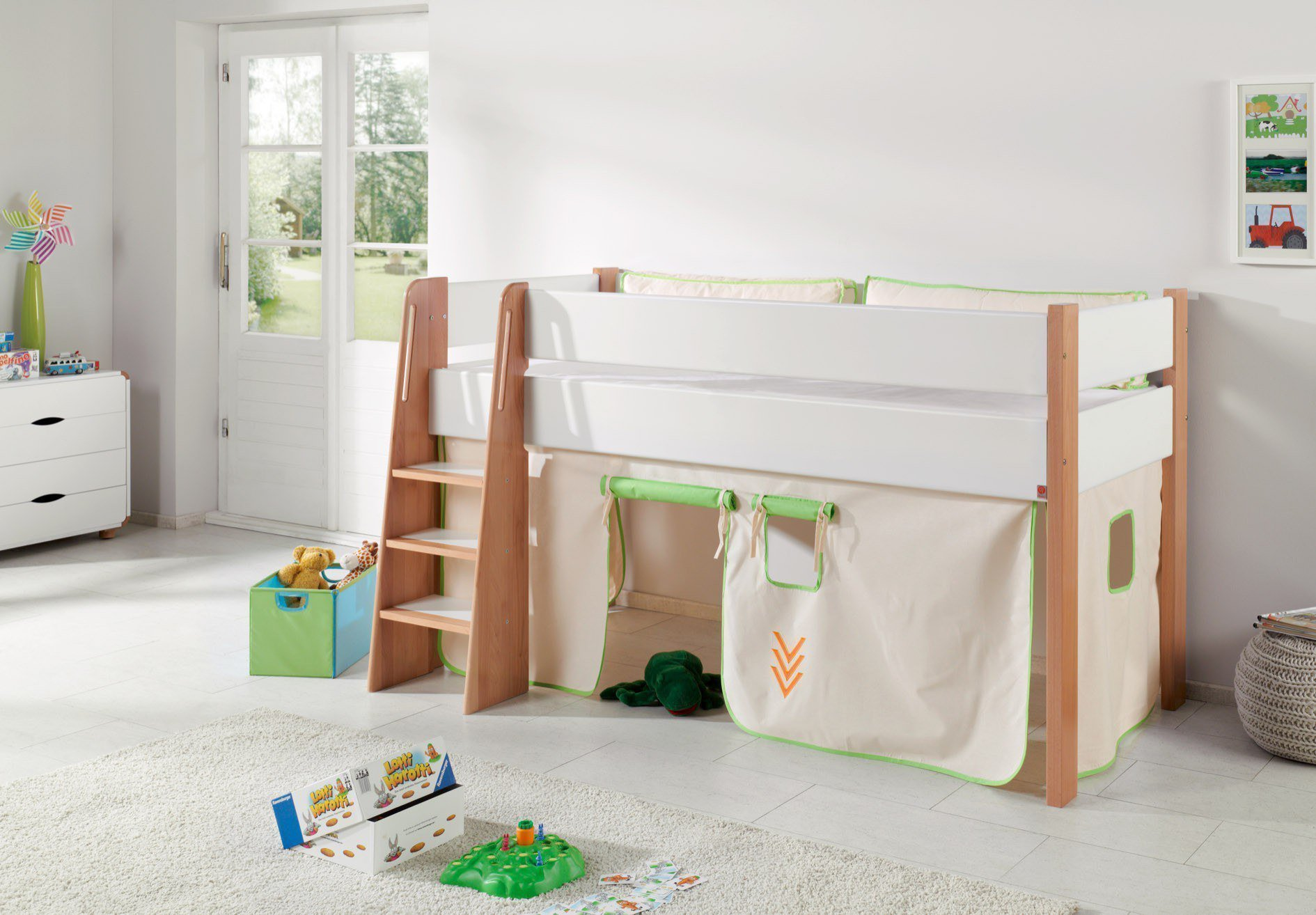 relita sam hochbett bi color indianer m bel letz ihr online shop. Black Bedroom Furniture Sets. Home Design Ideas