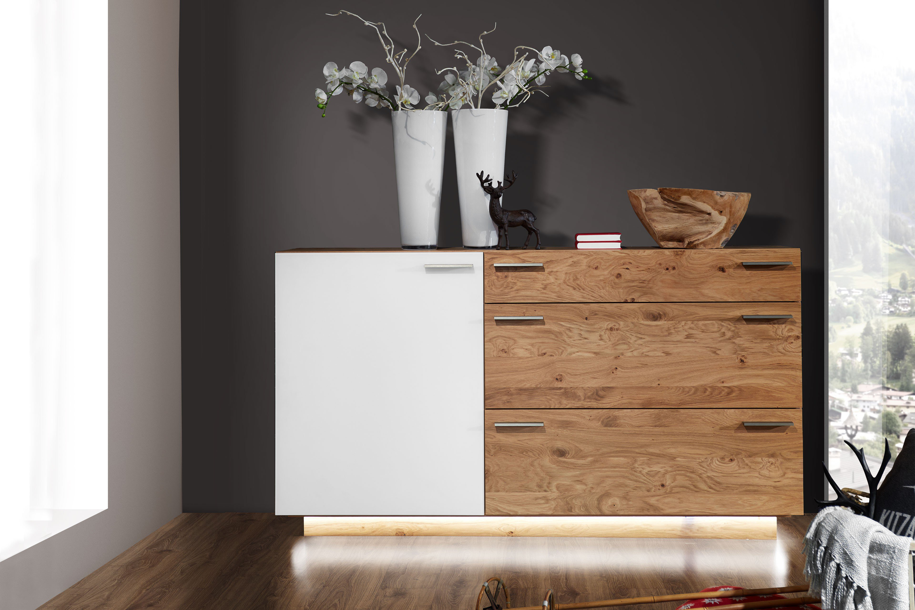 schr der wohnm bel sideboard montana kernasteiche snow m bel letz ihr online shop. Black Bedroom Furniture Sets. Home Design Ideas