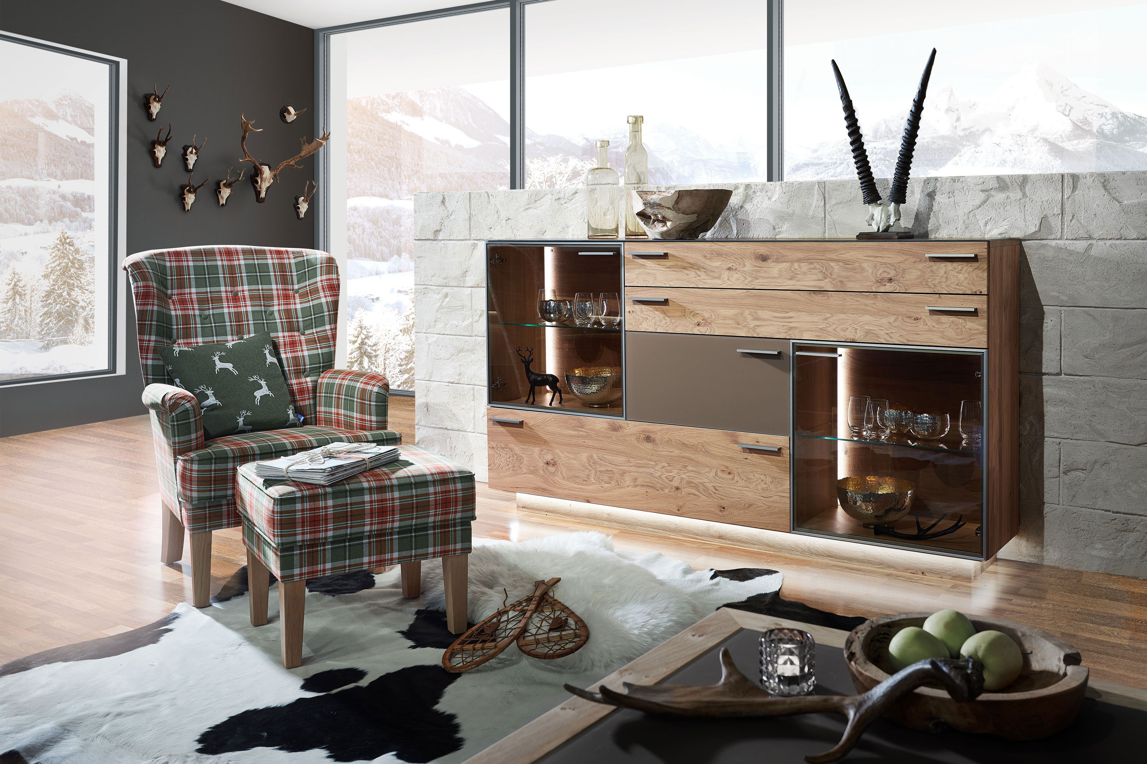 schr der wohnm bel sideboard kitzalm montana kernasteiche terra m bel letz ihr online shop. Black Bedroom Furniture Sets. Home Design Ideas