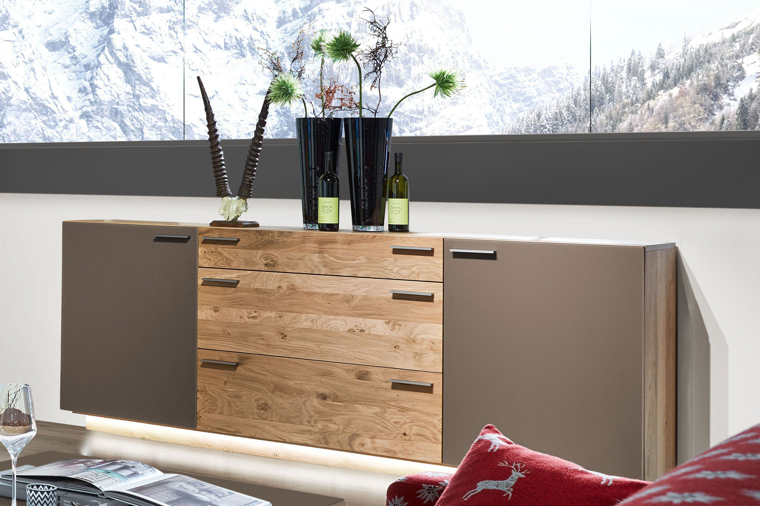 schr der wohnm bel wohnwand montana k051 kernasteiche terra m bel letz ihr online shop. Black Bedroom Furniture Sets. Home Design Ideas