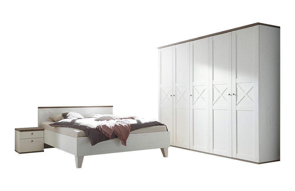Pol power schlafzimmer stockholm kiefer weiß möbel letz