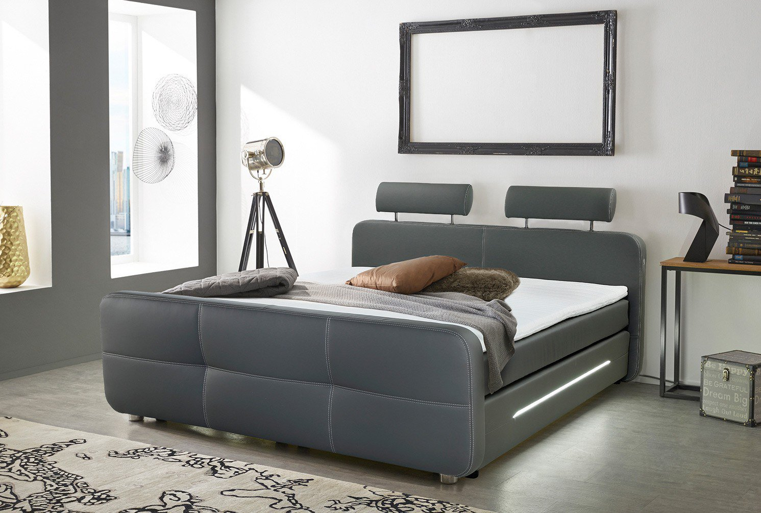 jockenh fer gina boxspringbett in grau m bel letz ihr online shop. Black Bedroom Furniture Sets. Home Design Ideas