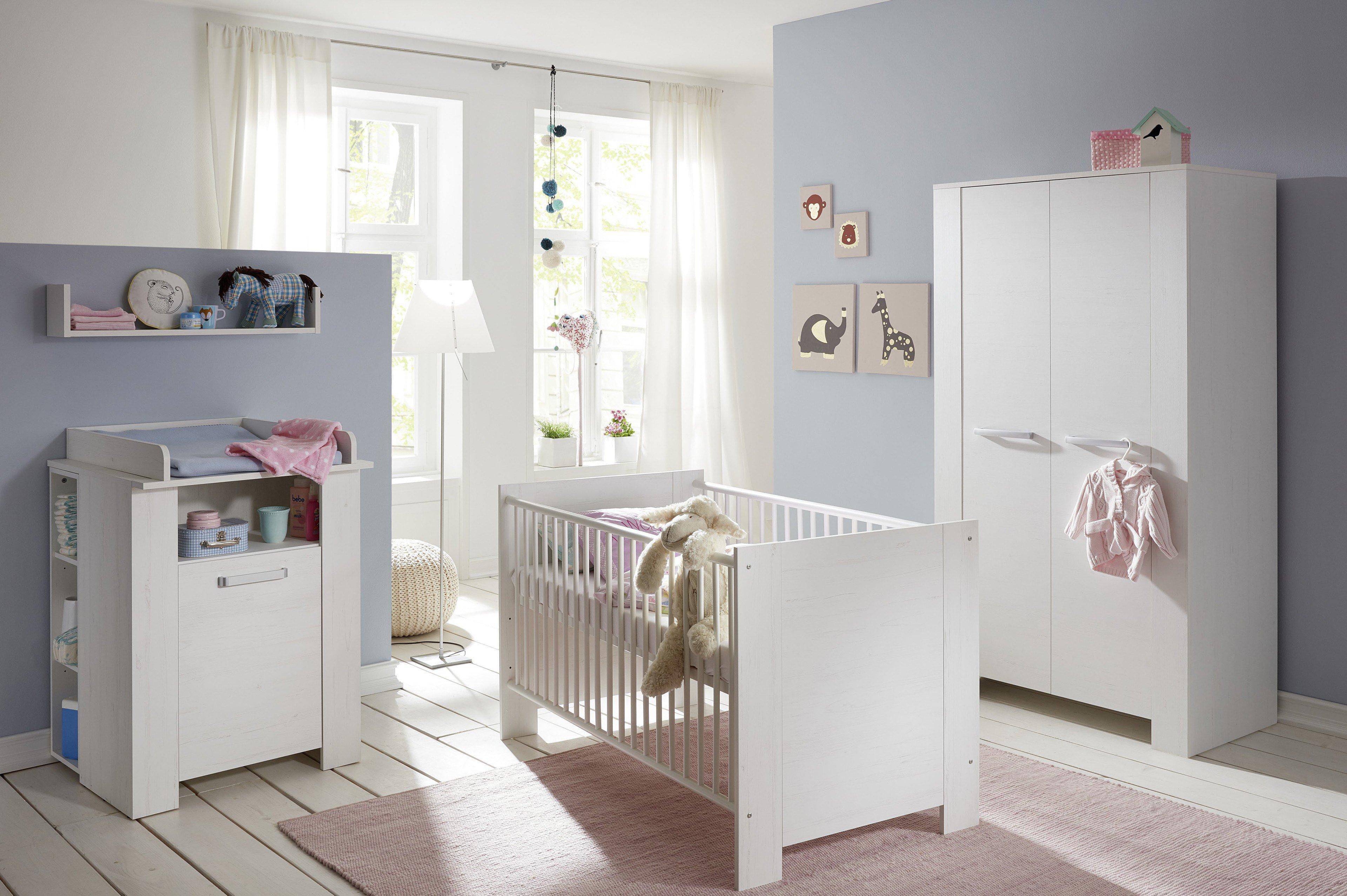 Babyzimmer möbel weiß  Trendteam Miri Babyzimmer Pinie Struktur weiß | Möbel Letz - Ihr ...