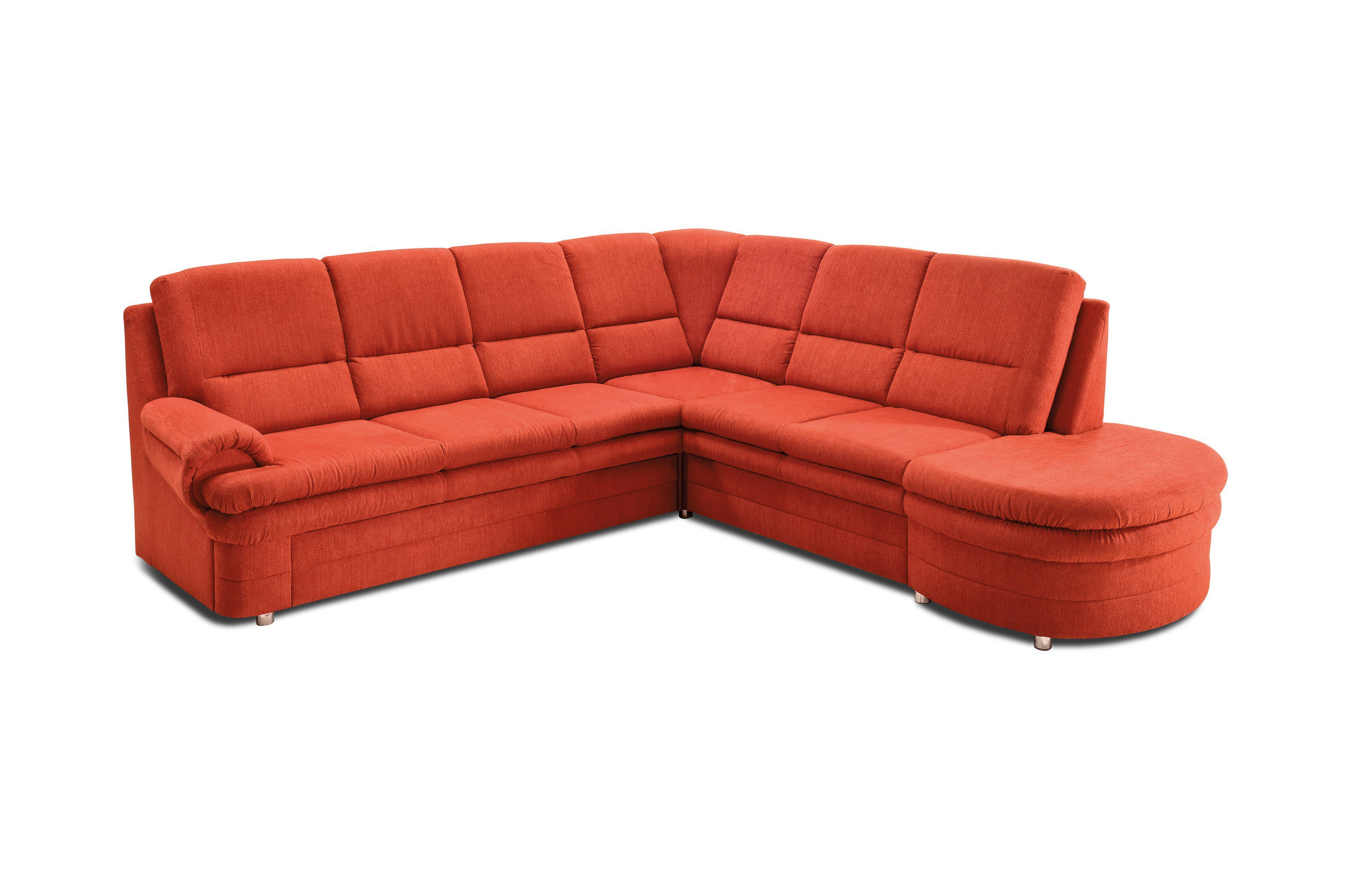 Benformato caneda ecksofa rot m bel letz ihr online shop for Ecksofa terracotta