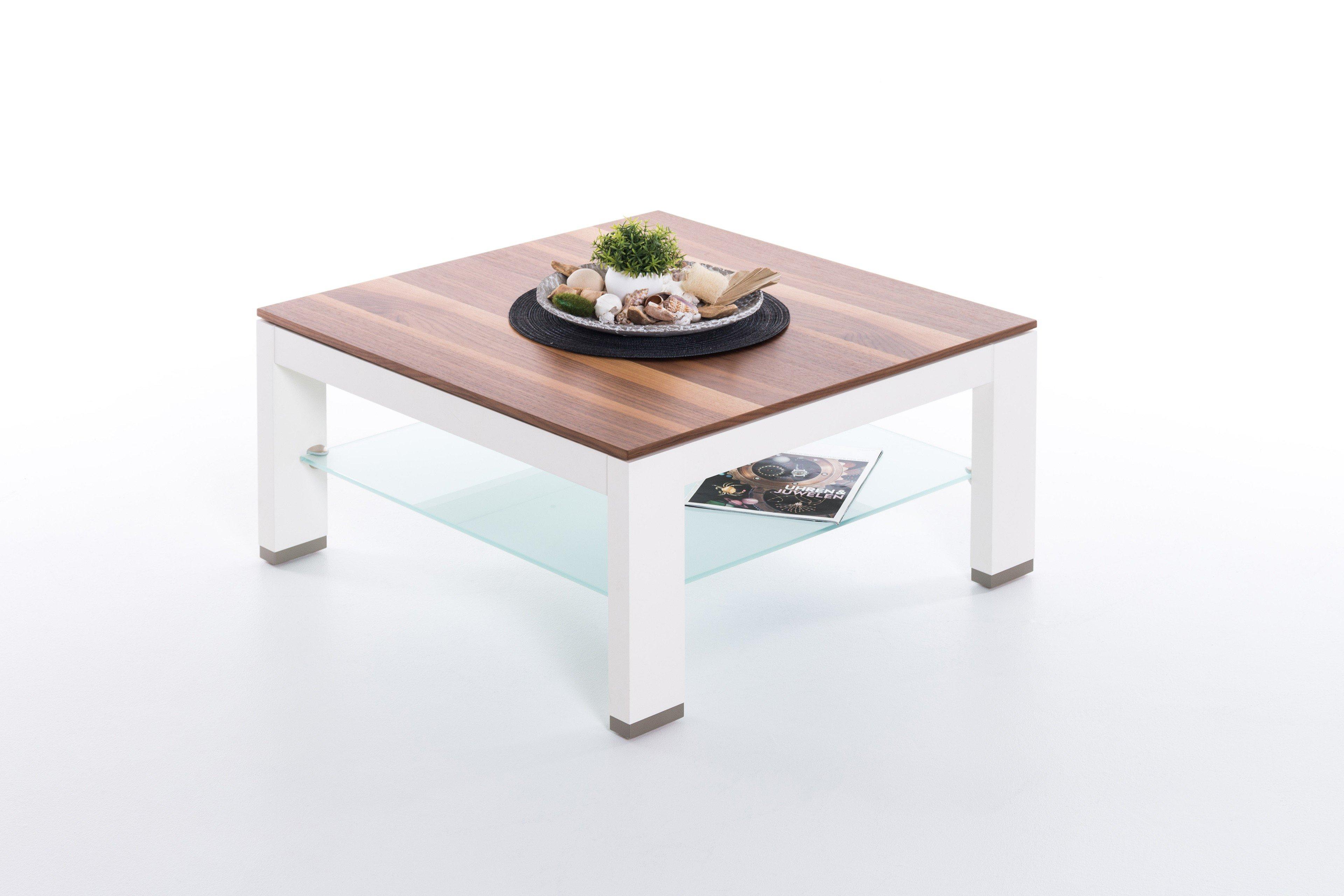 Gwinner Couchtisch Cth75b Nussbaum Weiß Möbel Letz Ihr Online Shop