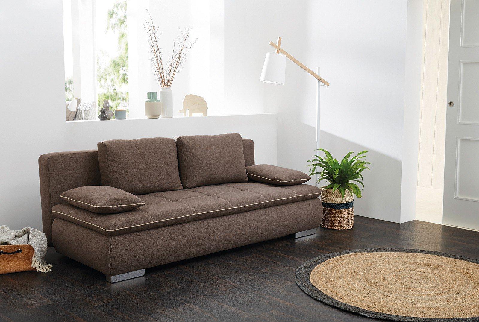 jockenh fer sofa cody cleo in braun mit bettkasten m bel letz ihr online shop. Black Bedroom Furniture Sets. Home Design Ideas