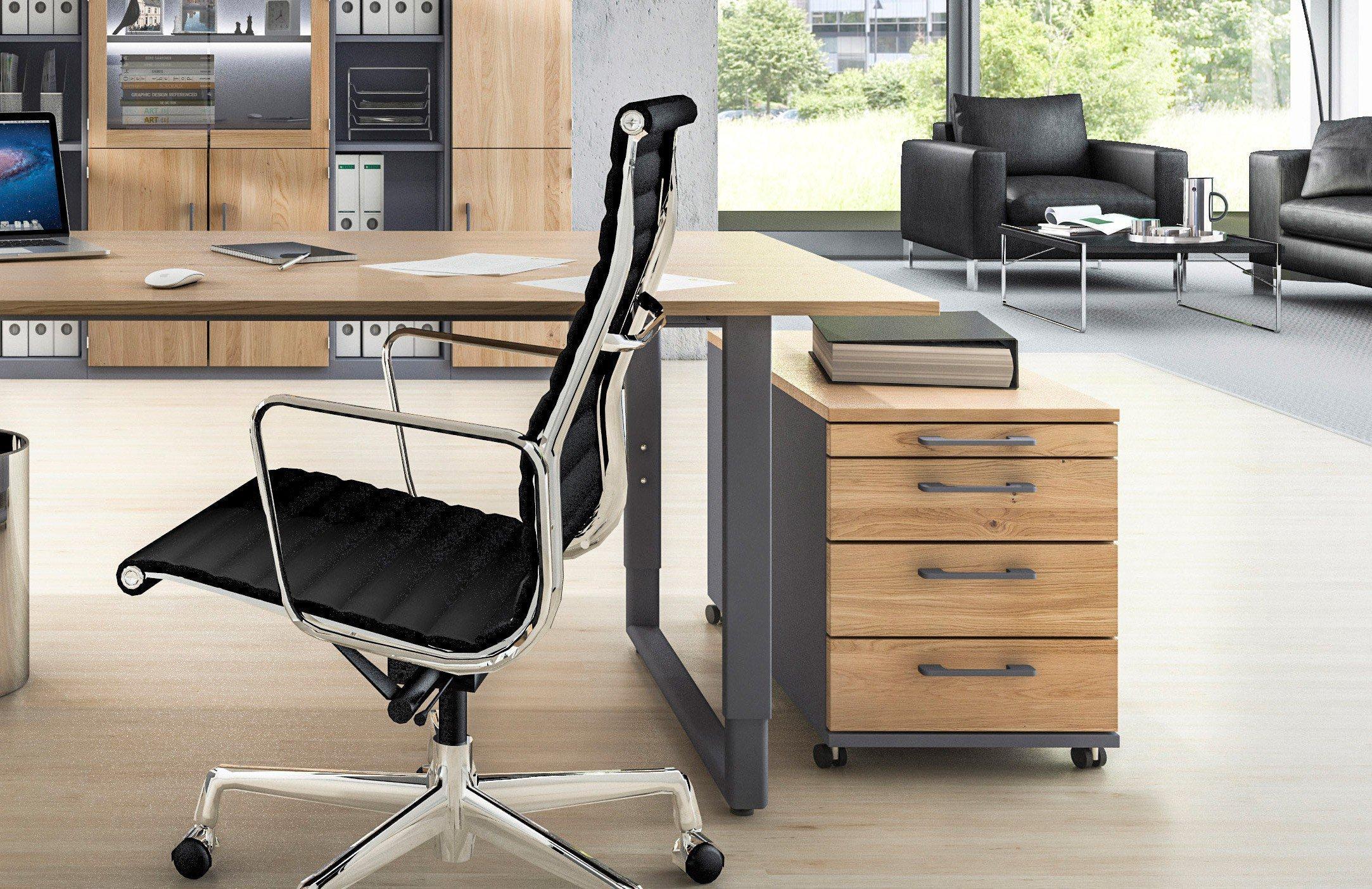 Röhr objekt.pur Schreibtisch Eiche/Metall | Möbel Letz - Ihr Online-Shop