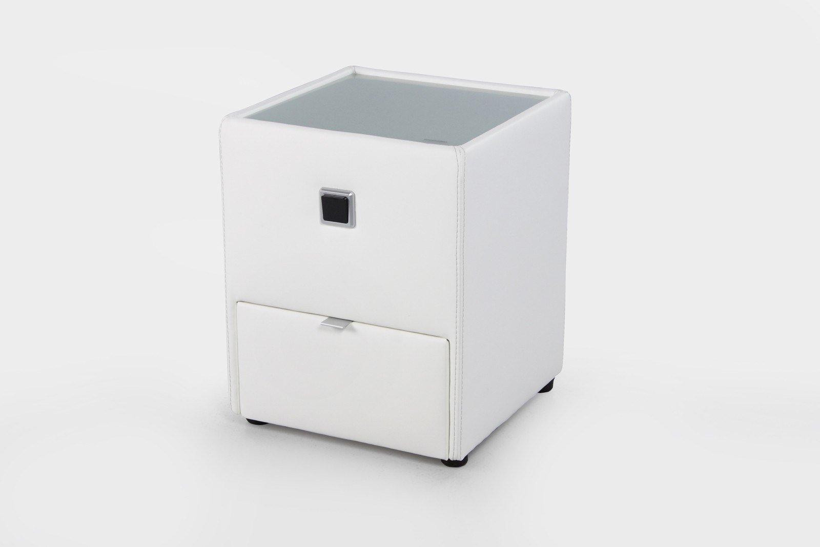jockenh fer lancy nachtkonsole in wei mit schublade. Black Bedroom Furniture Sets. Home Design Ideas