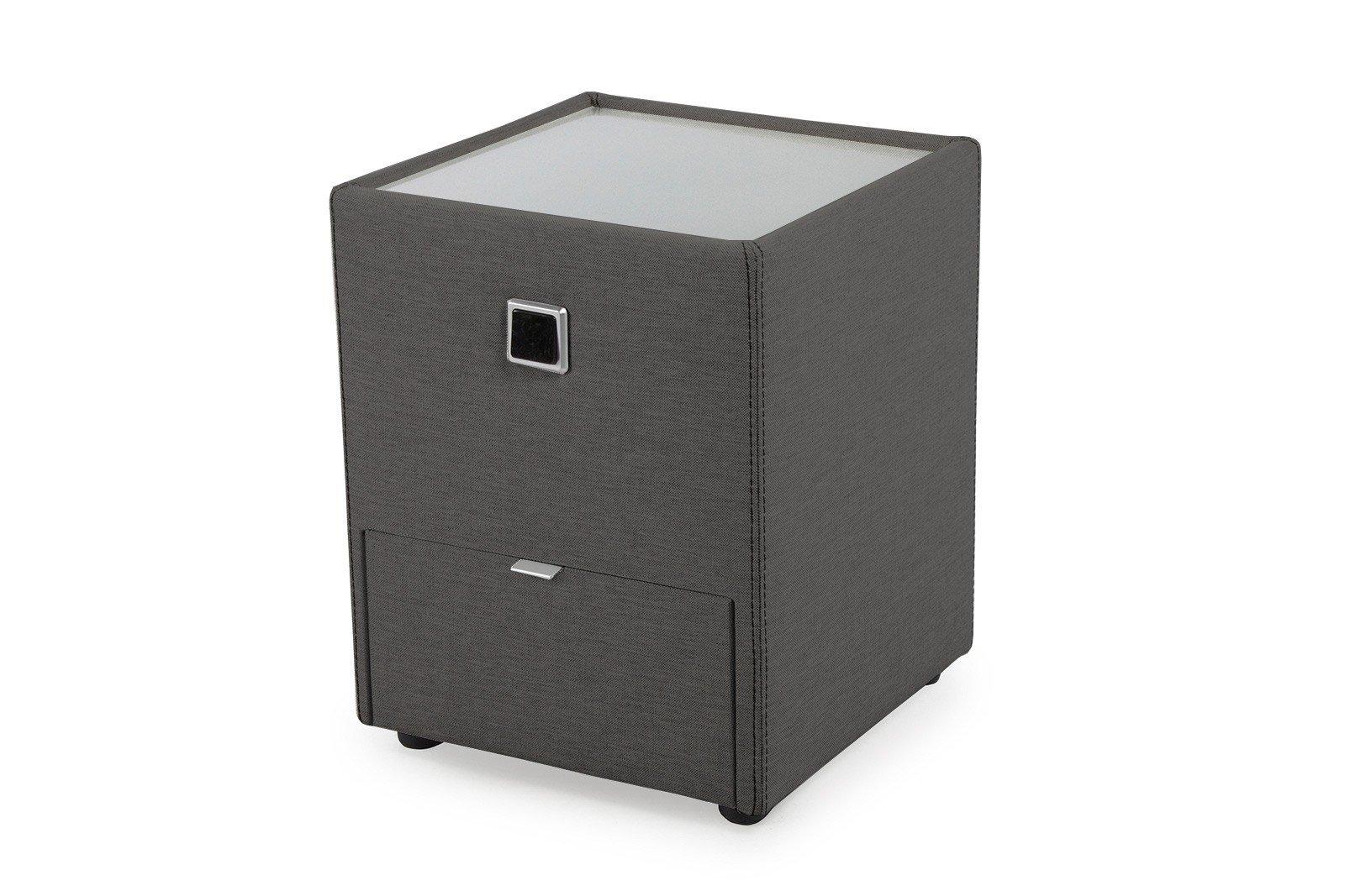 jockenh fer lancy nachtkonsole in grau mit beleuchtung und. Black Bedroom Furniture Sets. Home Design Ideas
