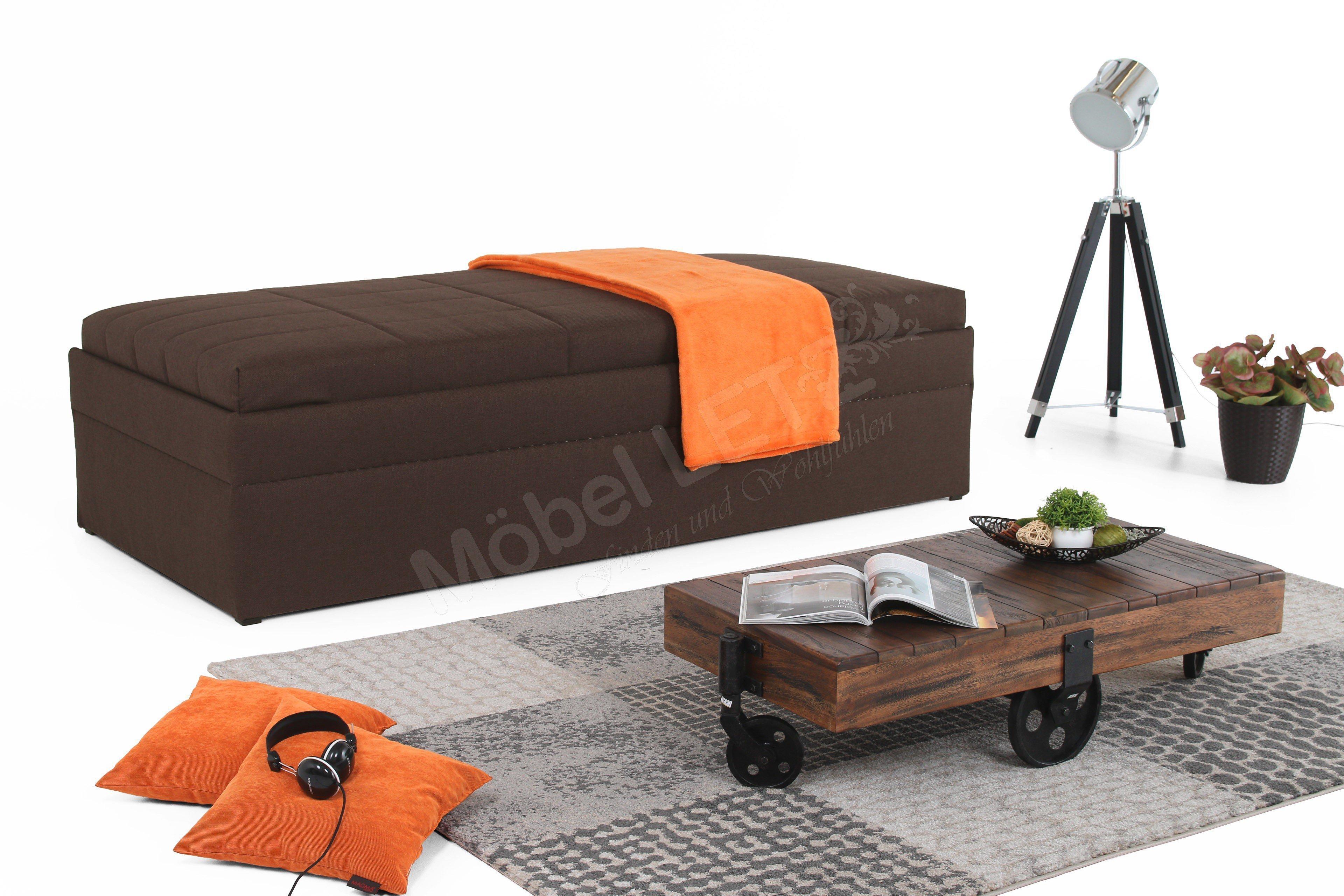 Hapo Schlafmöbel Einzelliege Sentino Senta In Braun Mit Bettkasten