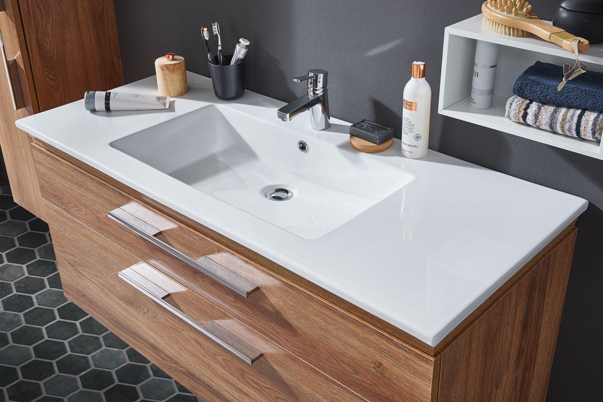 badezimmer cool line in charleston eiche von puris m bel letz ihr online shop. Black Bedroom Furniture Sets. Home Design Ideas