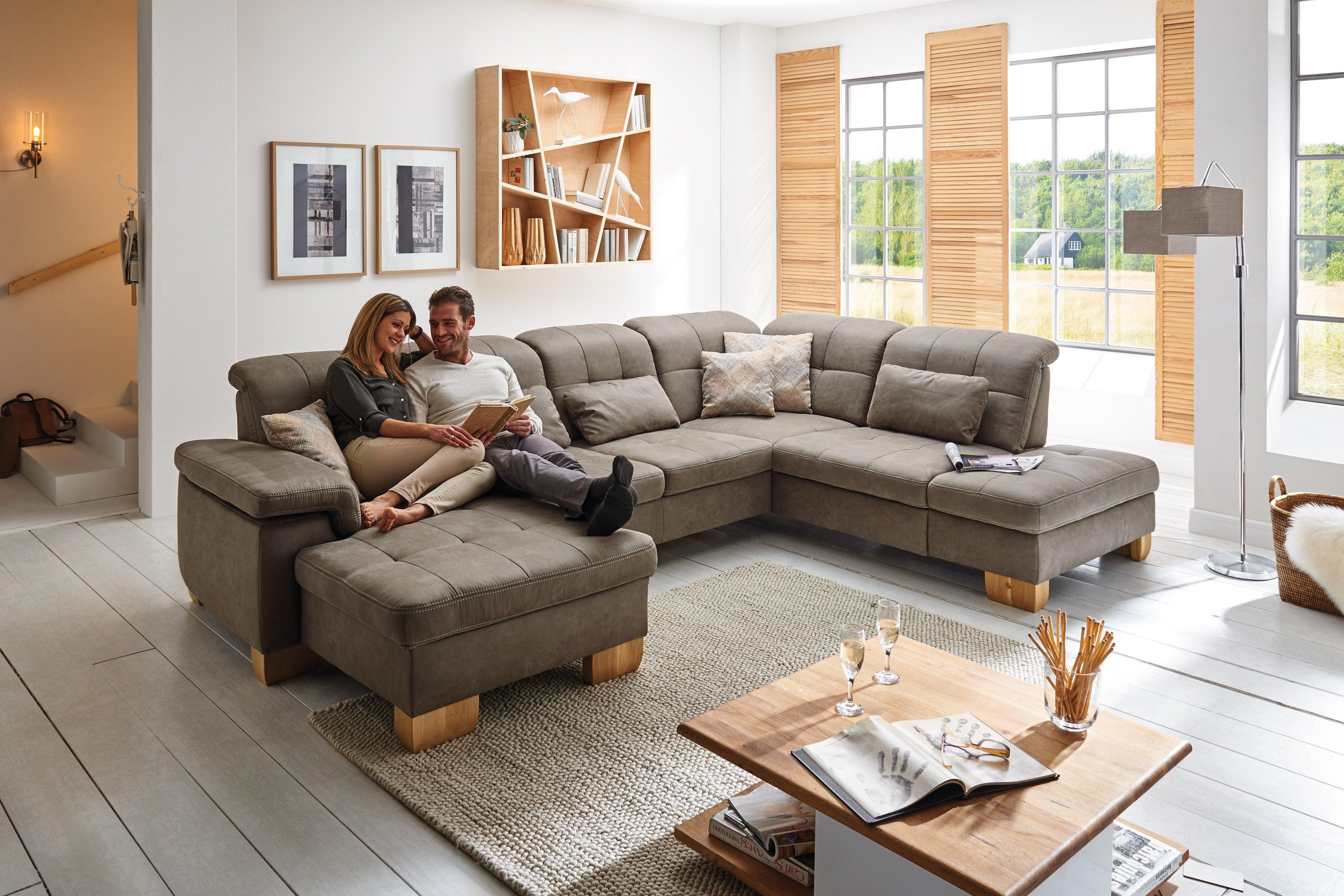 polipol sunny stacy polstergarnitur in grau braun. Black Bedroom Furniture Sets. Home Design Ideas