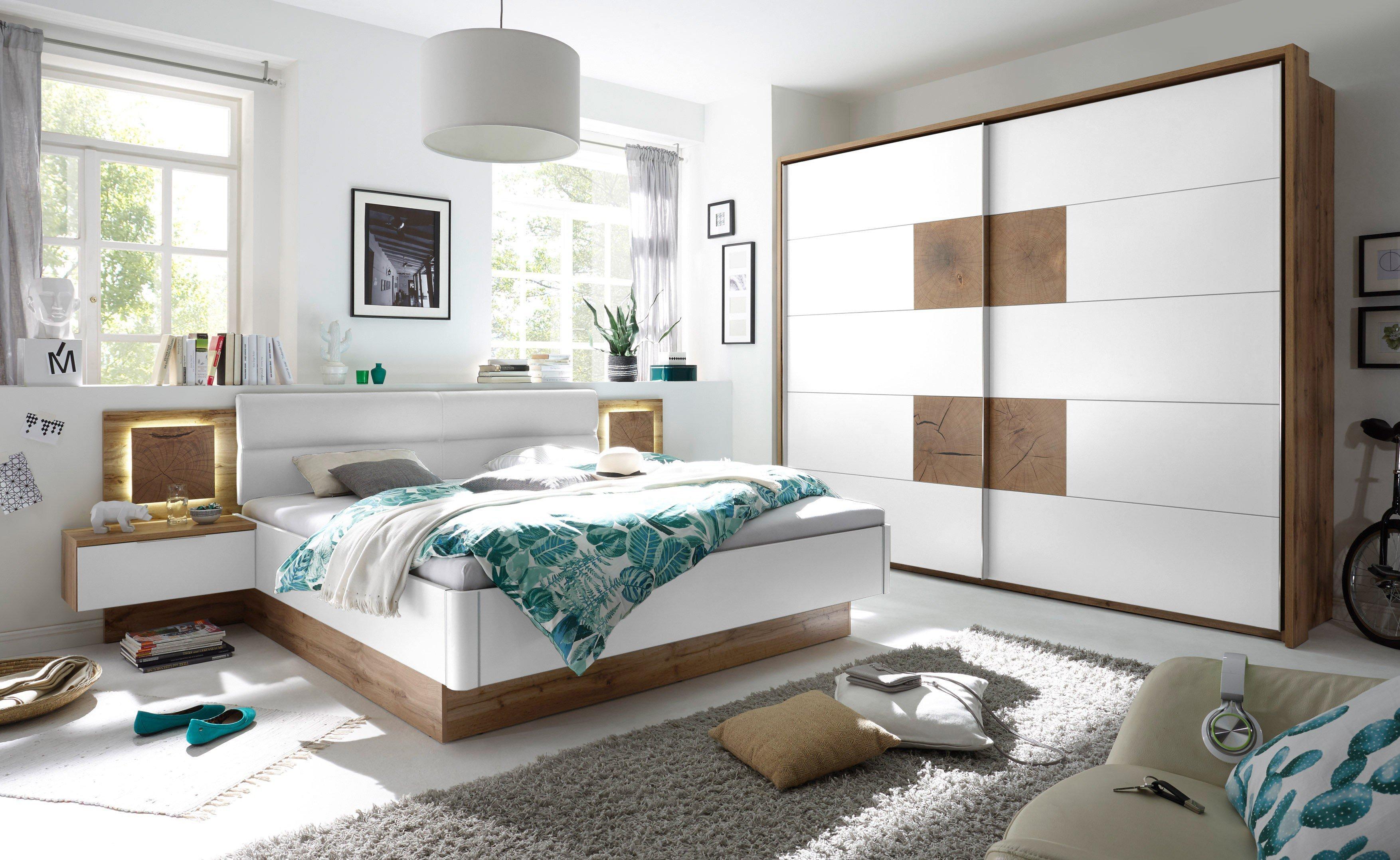 POL Power Schlafzimmer Capri weiß Wildeiche | Möbel Letz - Ihr ...