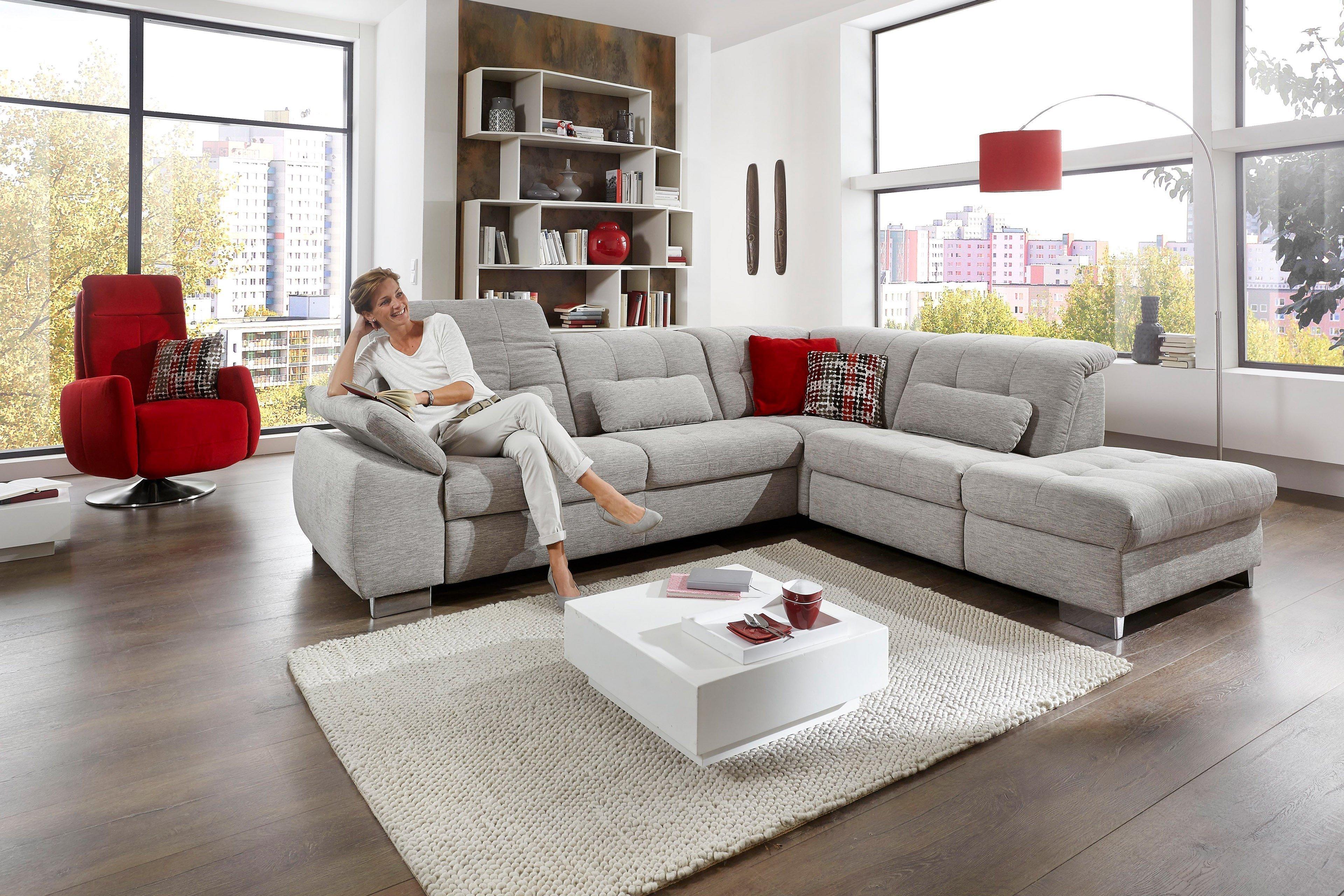 megapol ivory ecksofa hellgrau m bel letz ihr online shop. Black Bedroom Furniture Sets. Home Design Ideas