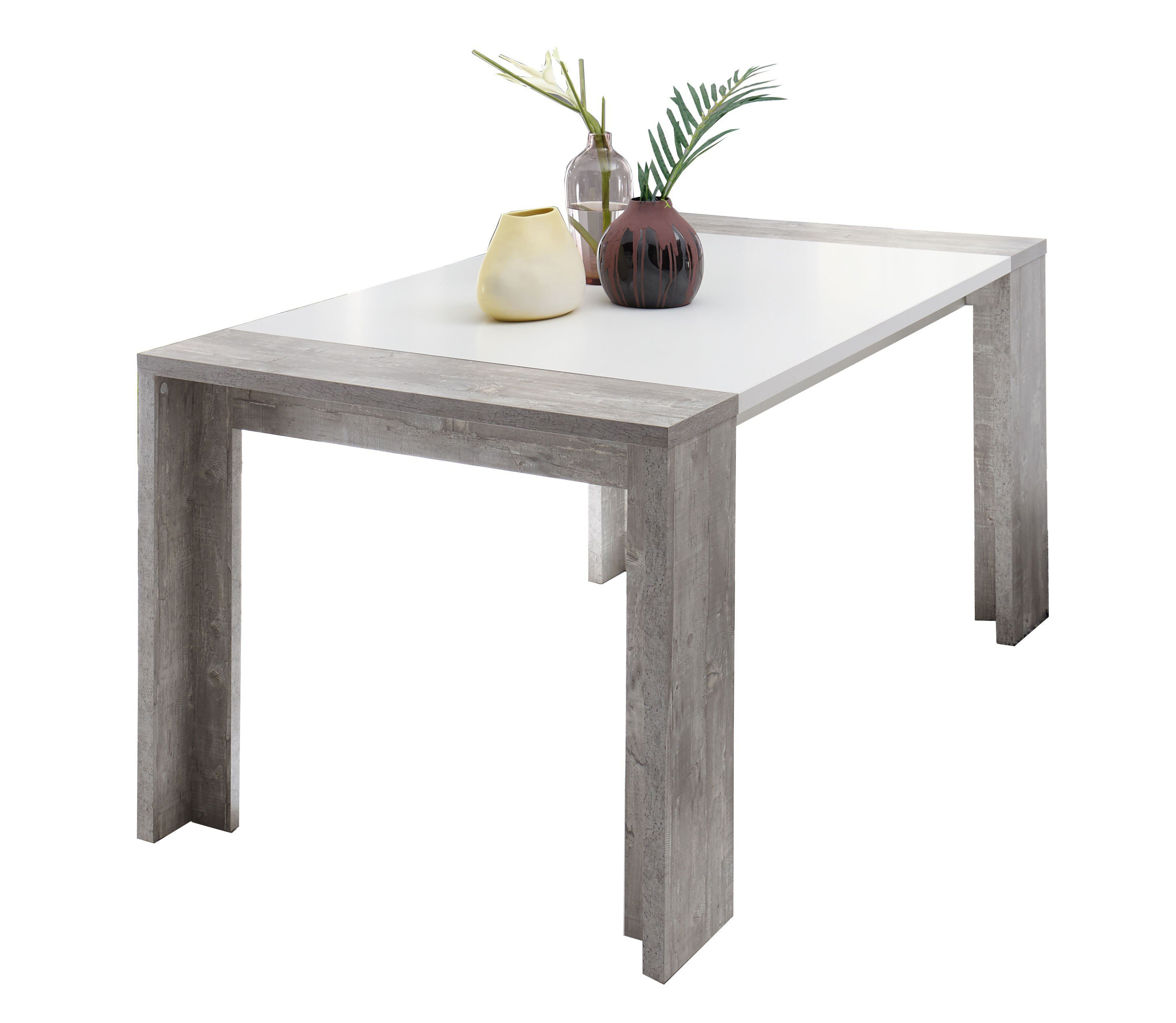 mäusbacher komfort 1/ hucknall esstisch beton/ weiß matt | möbel, Esszimmer dekoo
