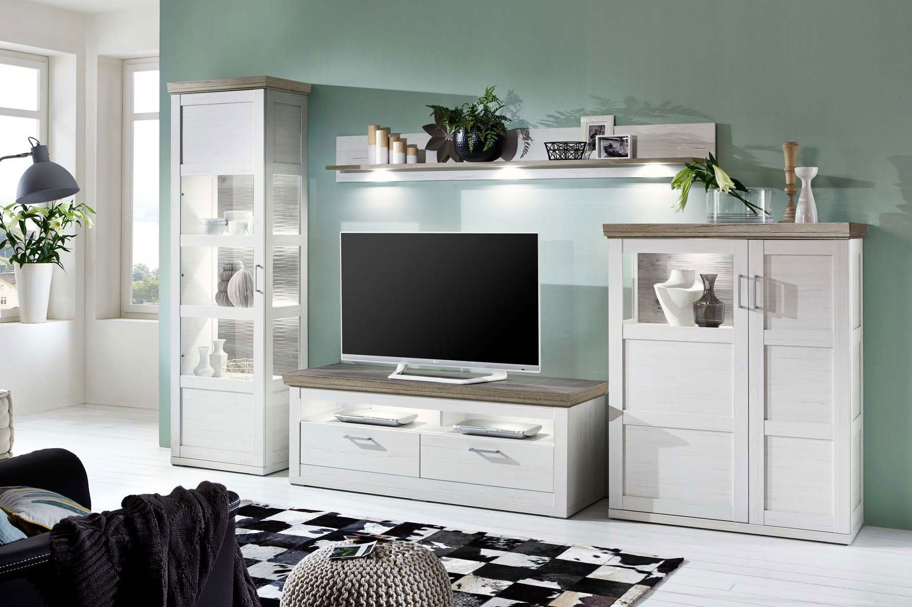 ideal m bel wohnwand bana 28 pino aurelio san remo eiche. Black Bedroom Furniture Sets. Home Design Ideas