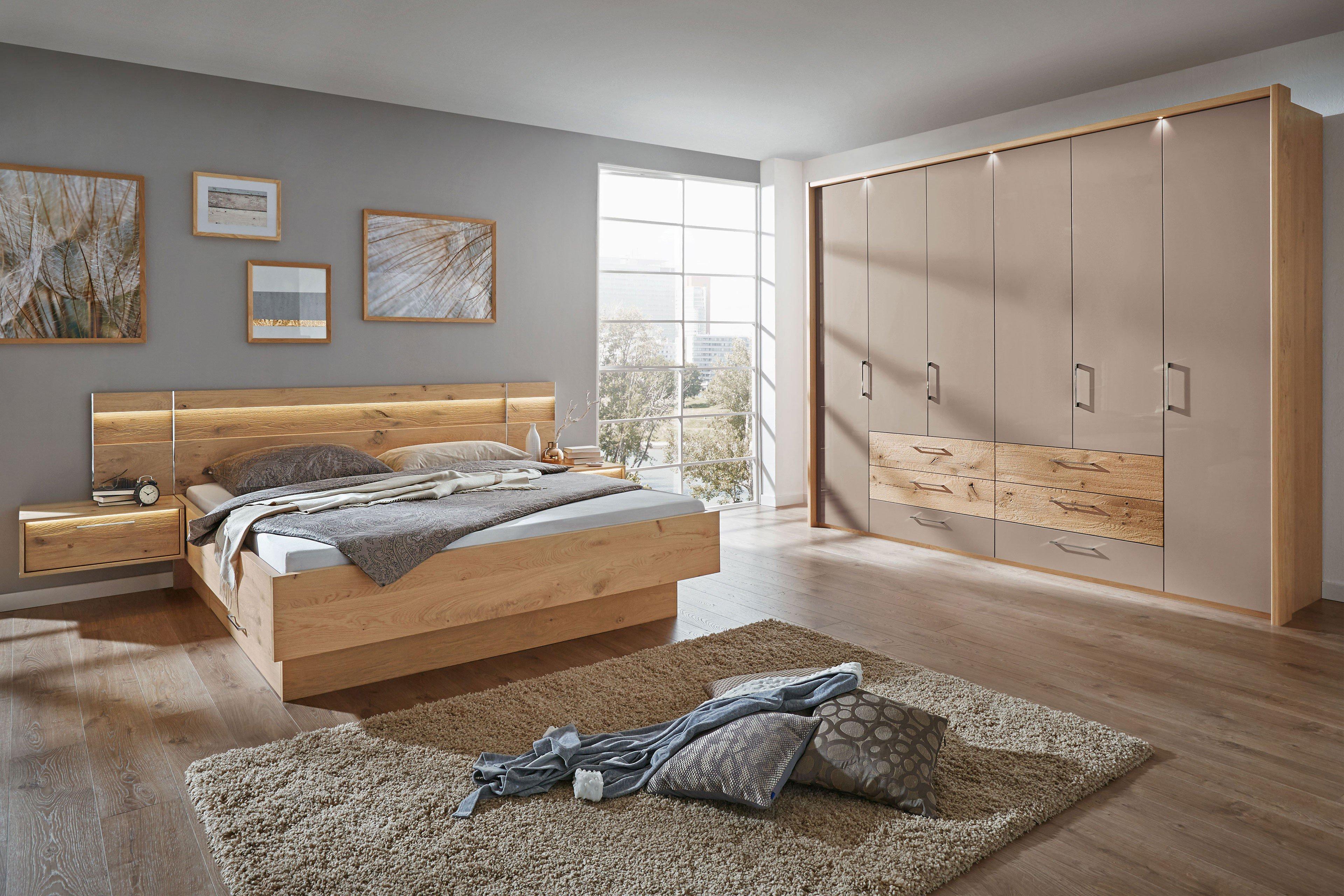 Cadiz Von Disselkamp   Schlafzimmer Balkeneiche Hochglanz Taupe