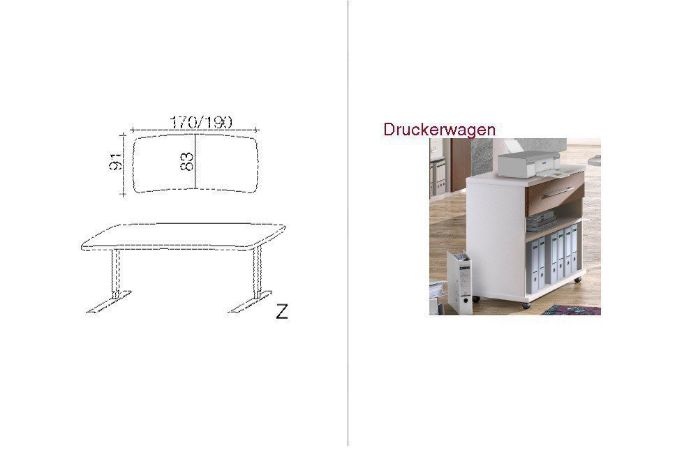 Röhr-Bush Techno Schreibtisch höhenverstellbar   Möbel Letz - Ihr ...