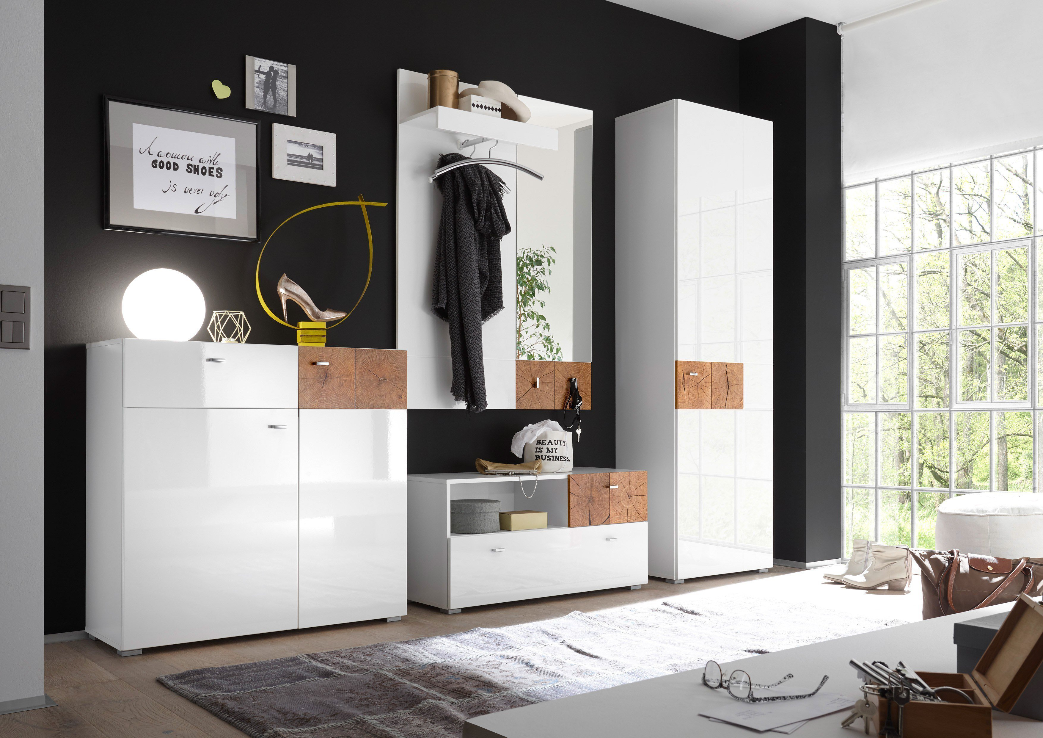 first look garderobe forest wei hirnholz m bel letz ihr online shop. Black Bedroom Furniture Sets. Home Design Ideas