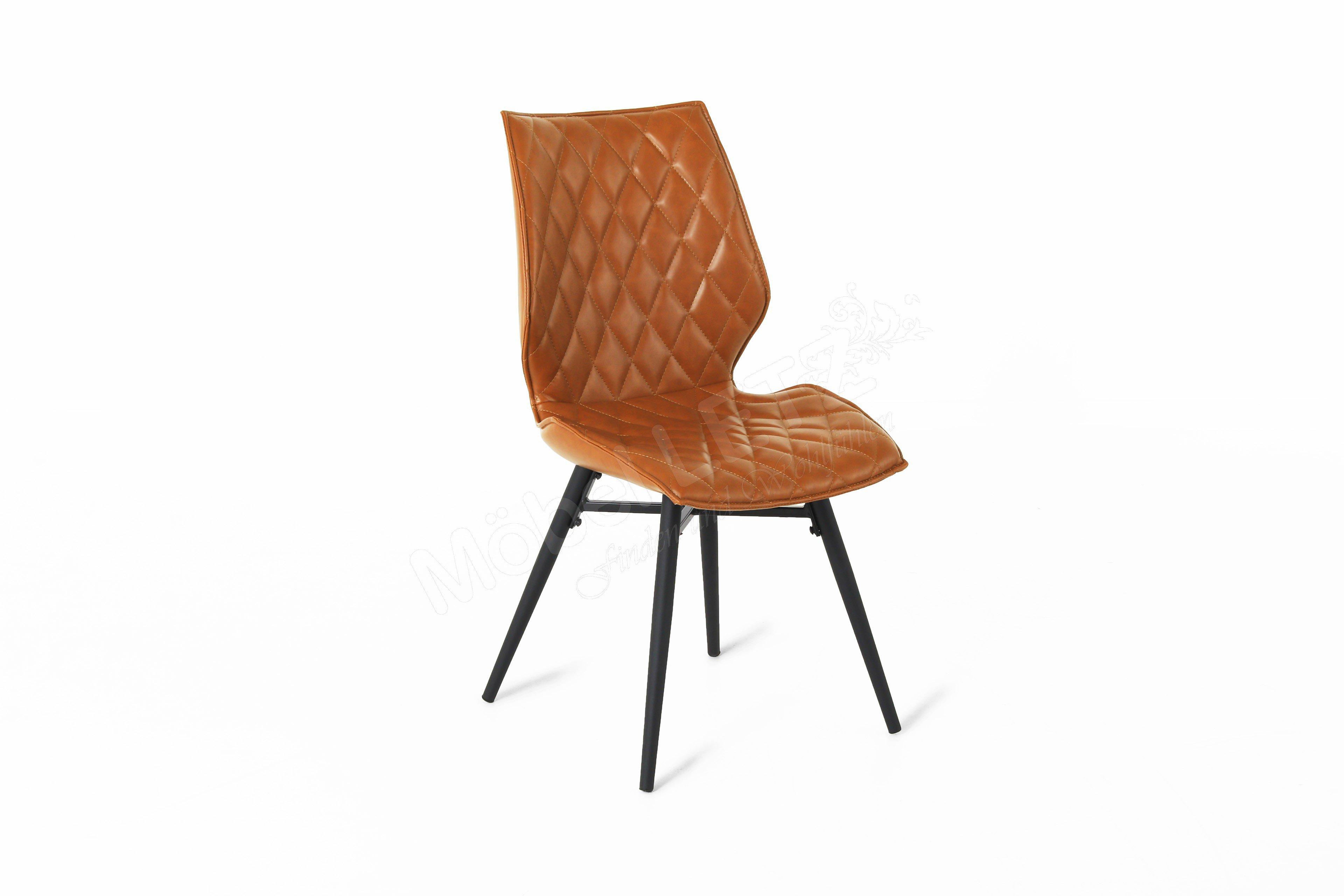 stuhl stockholm kunstleder braun m bel letz ihr online shop. Black Bedroom Furniture Sets. Home Design Ideas