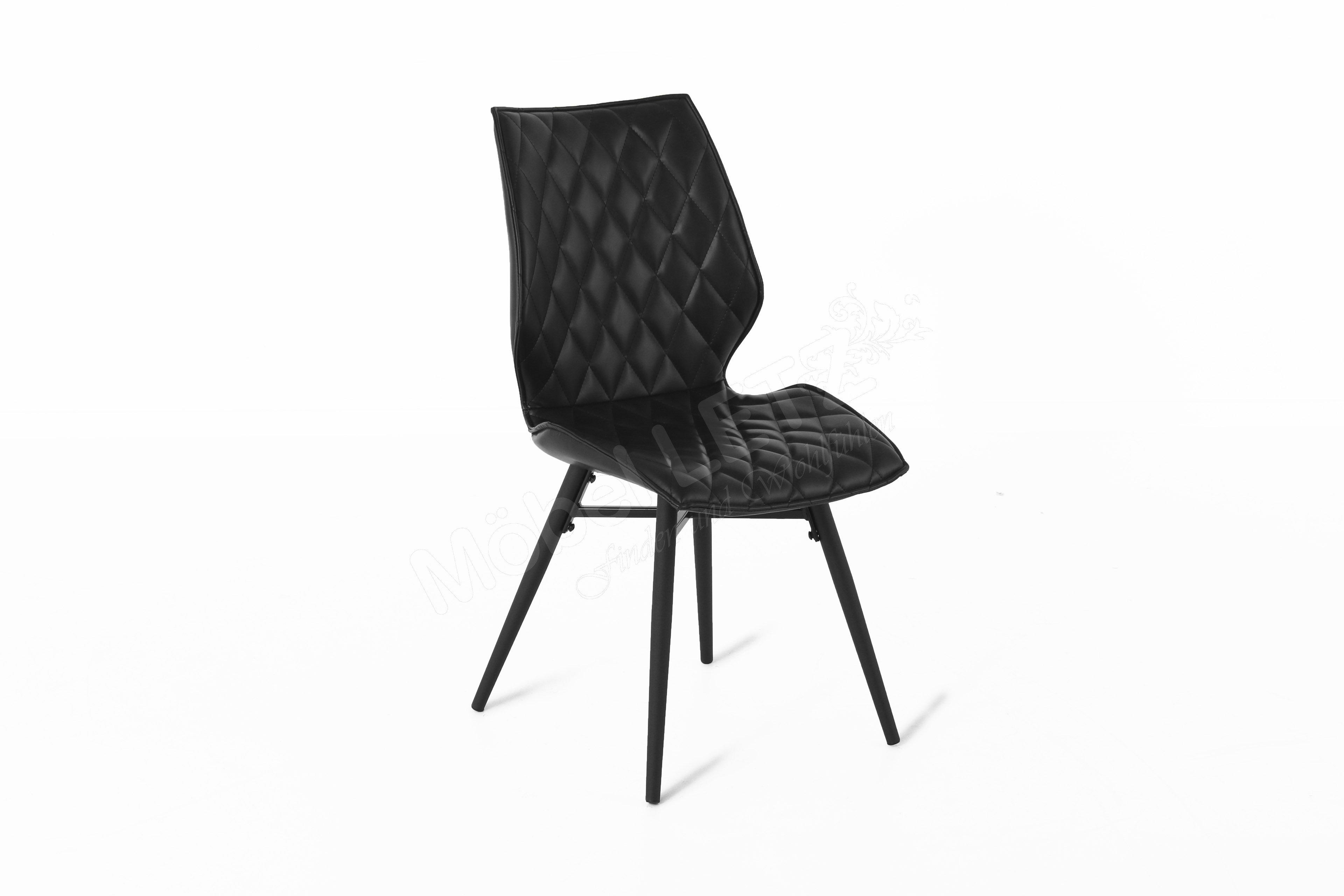 stuhl stockholm kunstleder schwarz m bel letz ihr online shop. Black Bedroom Furniture Sets. Home Design Ideas