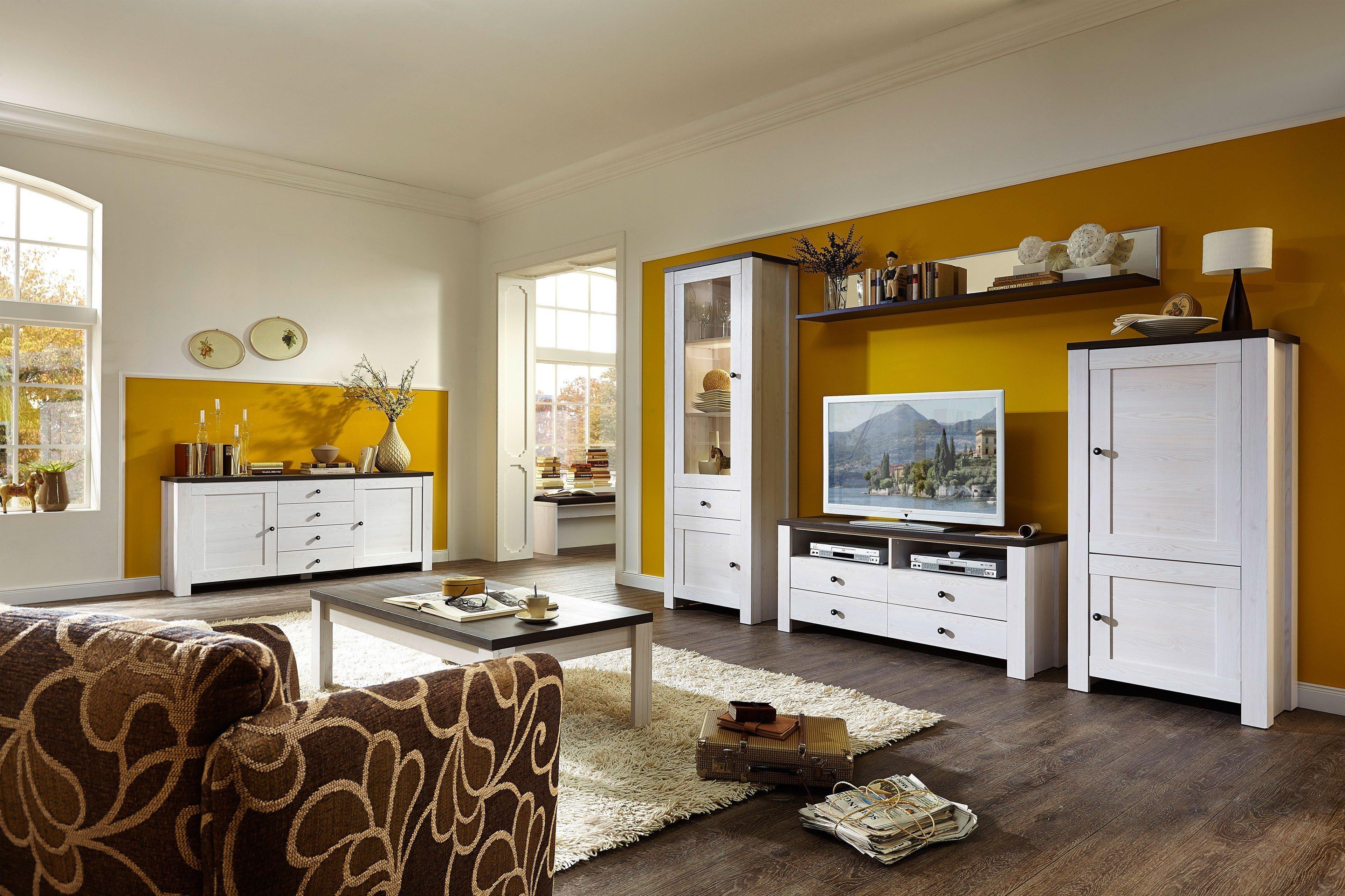 innostyle wohnwand antwerpen bram l rche pinie mit beleuchtung m bel letz ihr online shop. Black Bedroom Furniture Sets. Home Design Ideas