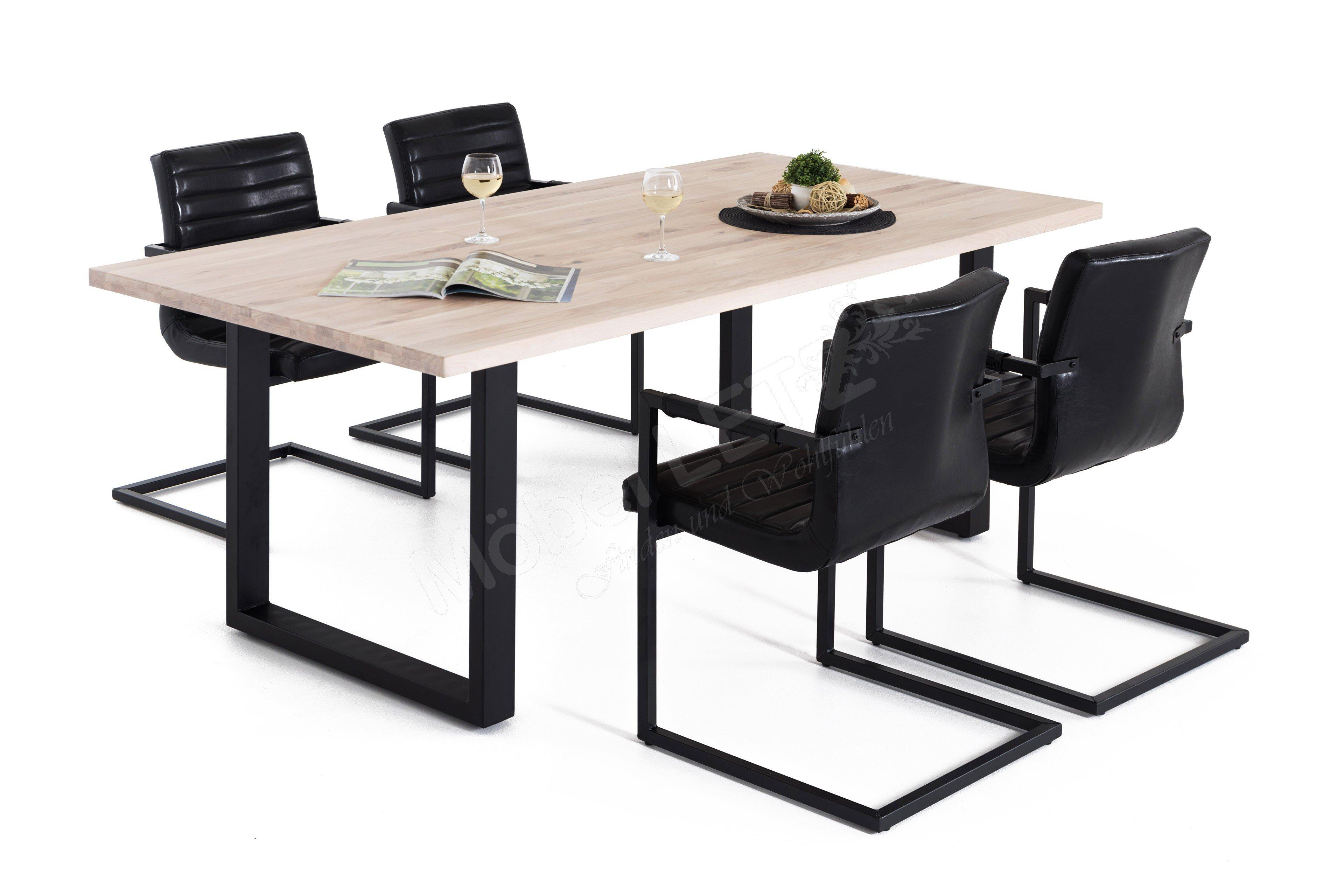 esstisch brooklyn wildeiche bianco m bel. Black Bedroom Furniture Sets. Home Design Ideas
