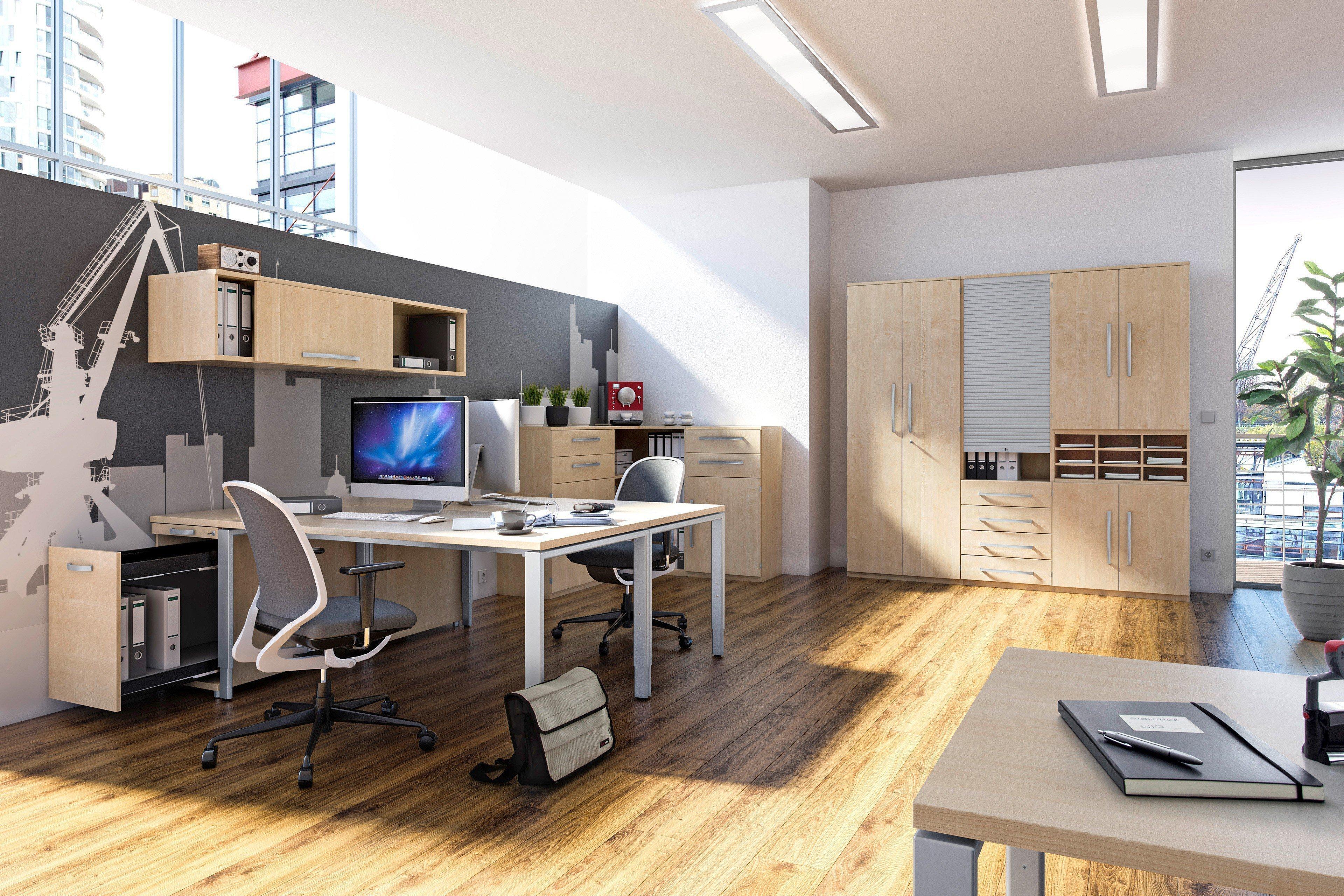 Röhr-Bush Techno 4-Fuß Schreibtisch Ahorn | Möbel Letz - Ihr ...
