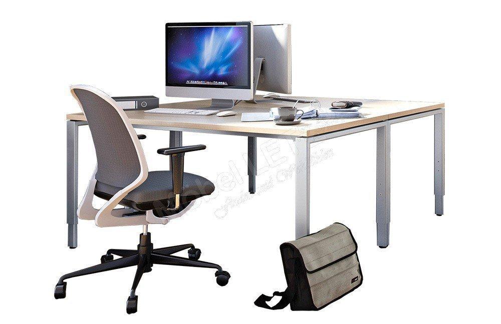 Röhr-Bush Techno 4-Fuß Schreibtisch Ahorn   Möbel Letz - Ihr Online-Shop