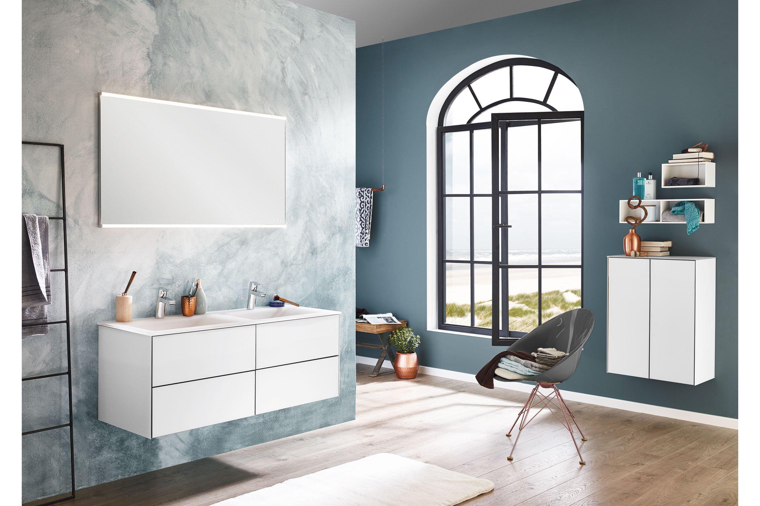 Badezimmer Ice Line in Glas optiwhite von puris | Möbel Letz - Ihr ...