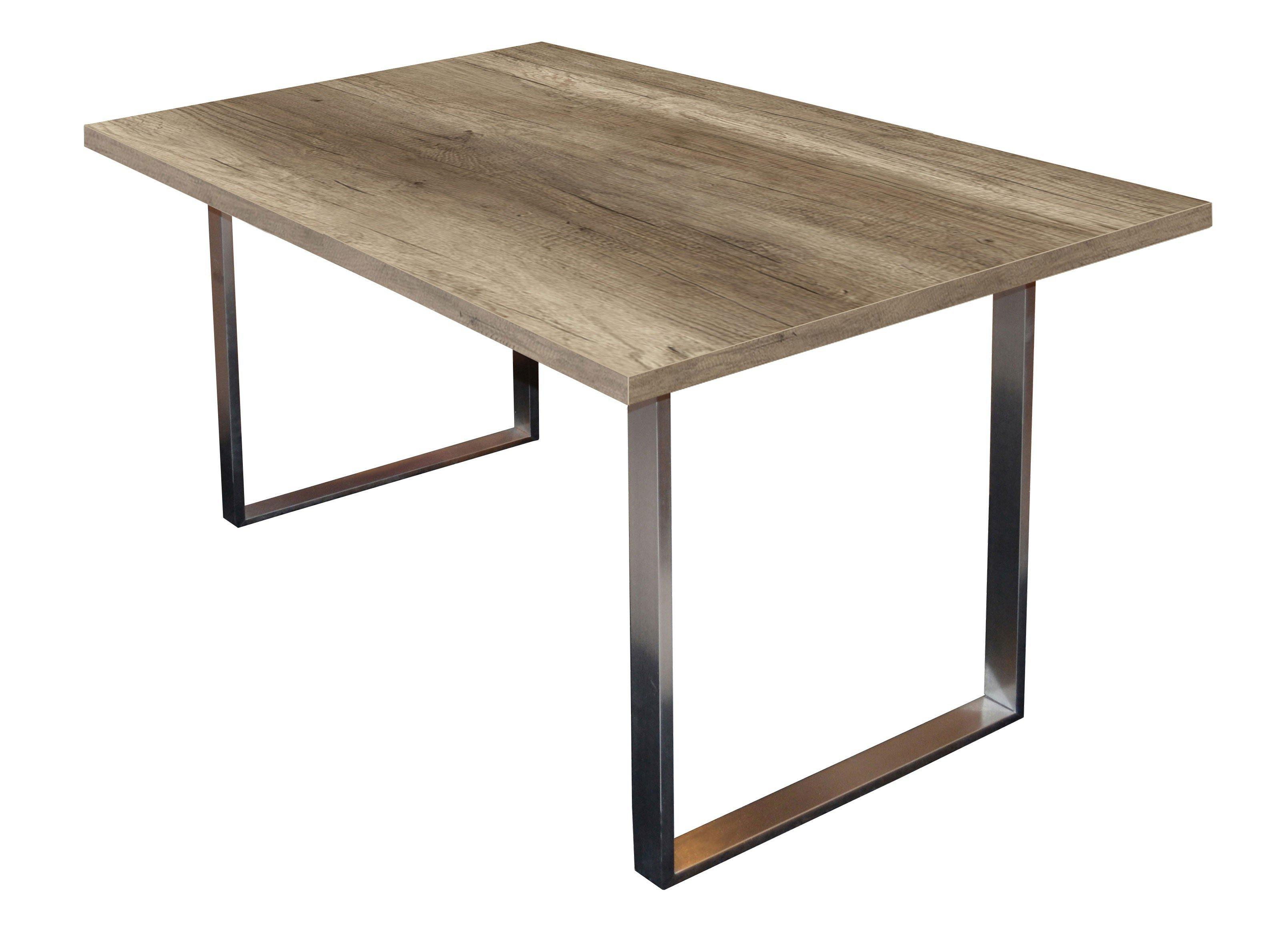m usbacher steel esstisch wildeiche tr ffel m bel letz. Black Bedroom Furniture Sets. Home Design Ideas