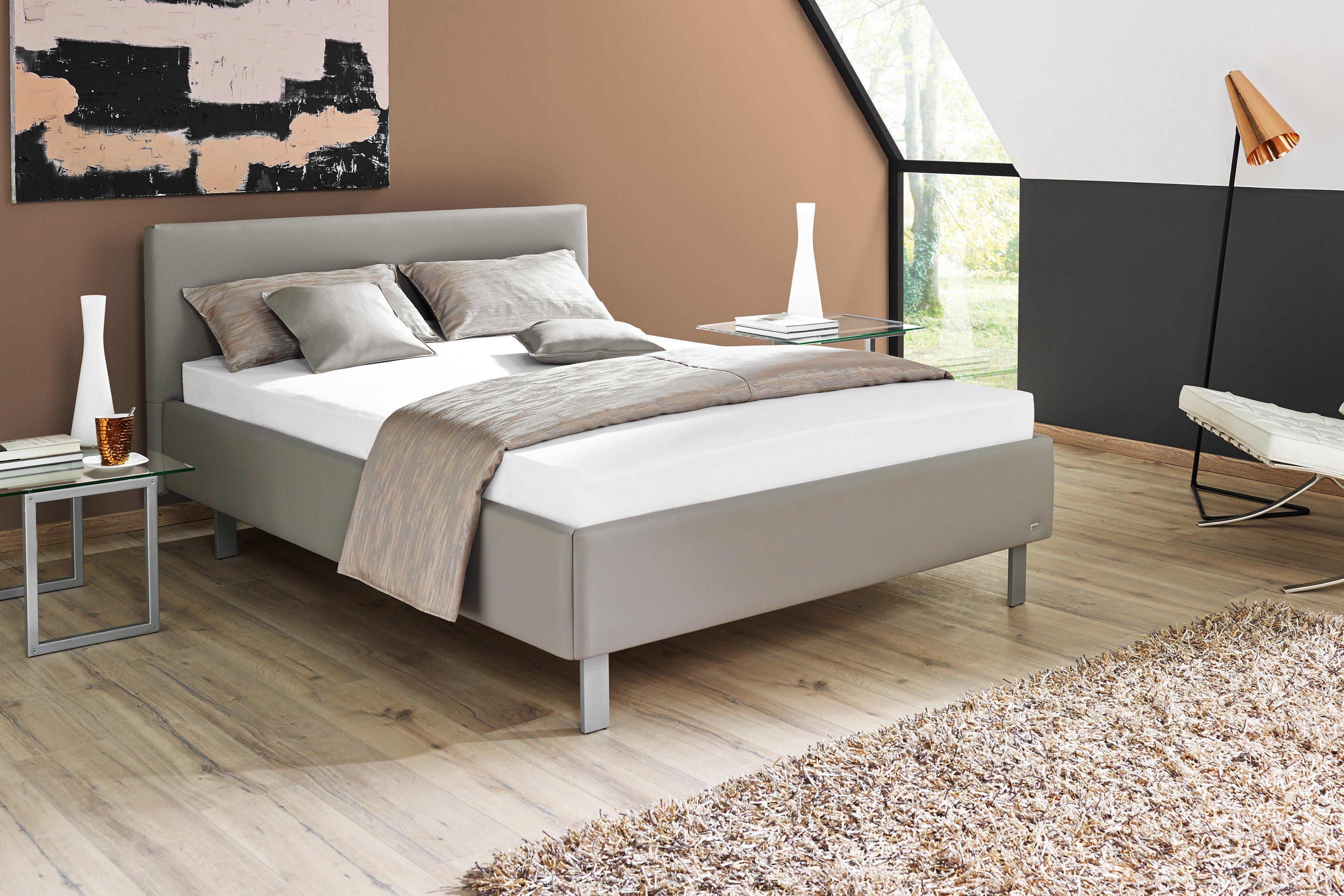 ruf polsterbett modell casa in hellgrau mit geradem kopfteil m bel letz ihr online shop. Black Bedroom Furniture Sets. Home Design Ideas